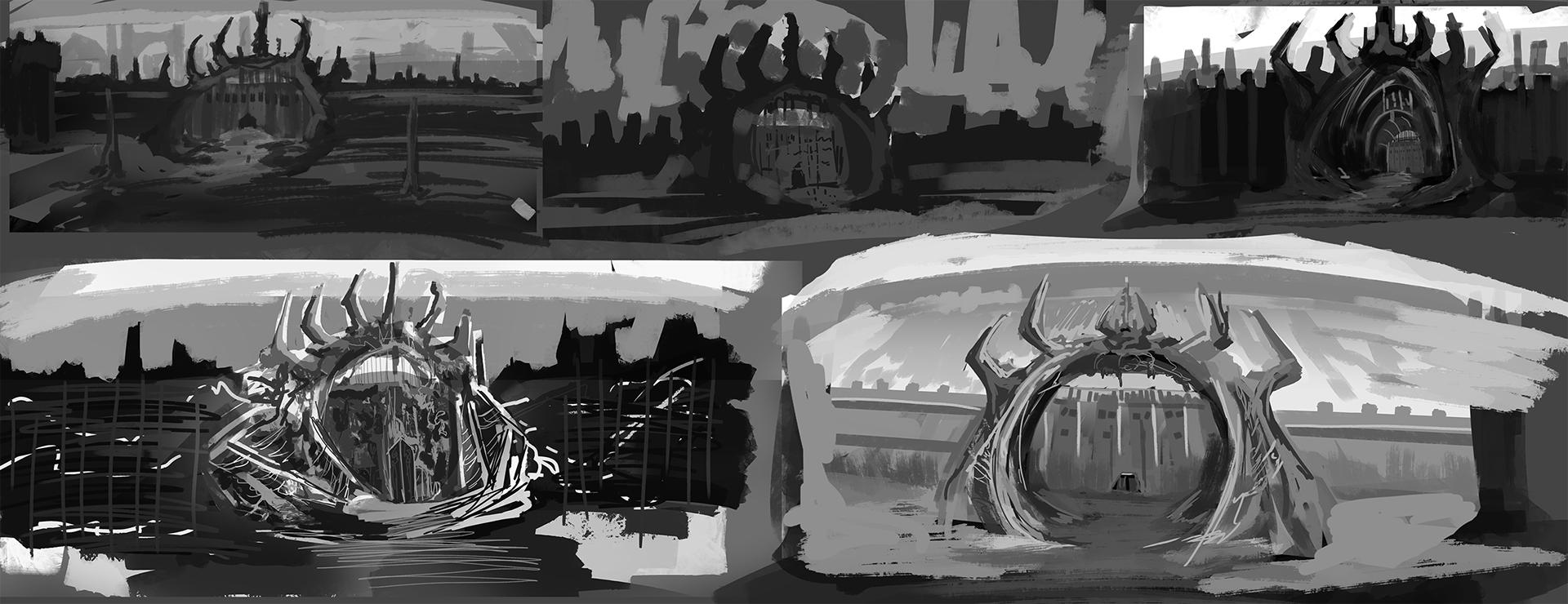 kayla-cline Il Cancello, conceptart inutilizzato per la Enhanced Edition di Planescape: Torment - by Madolin Bee www.kaylacline.com (2017) © Beamdog e dell'autore, tutti i diritti riservati