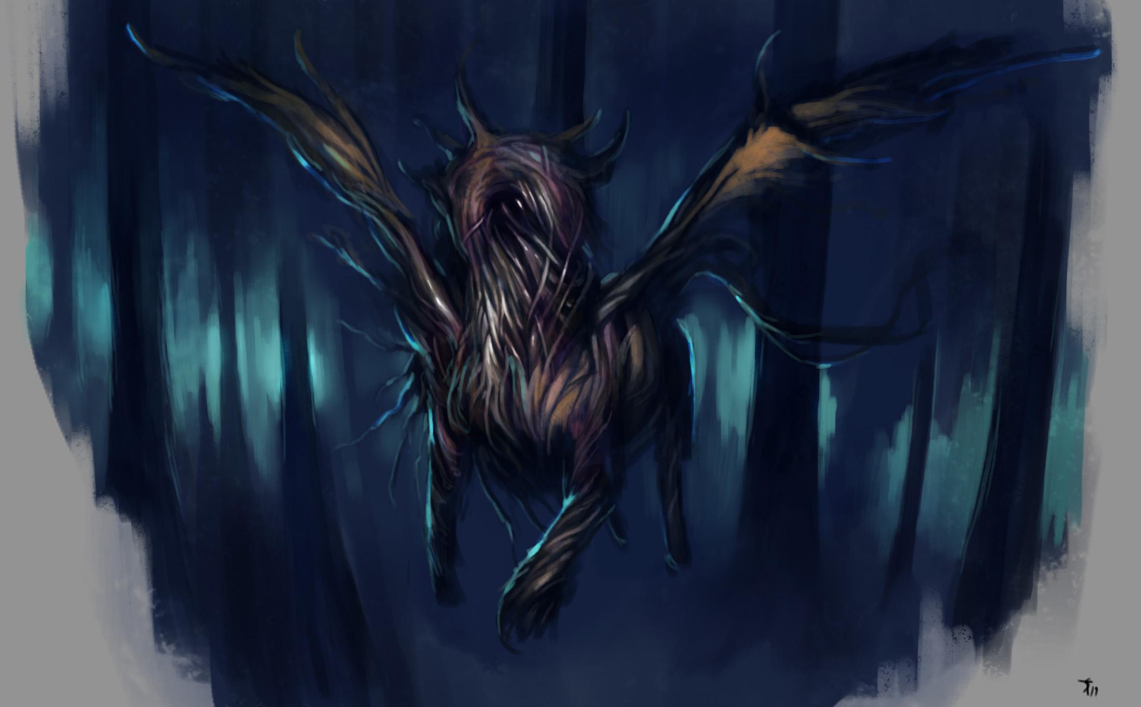 """the-murdellicious #118: """"Hell Hound"""" - by Tuomas Salmela themurling.tumblr.com (2019-07) © dell'autore tutti i diritti riservati"""
