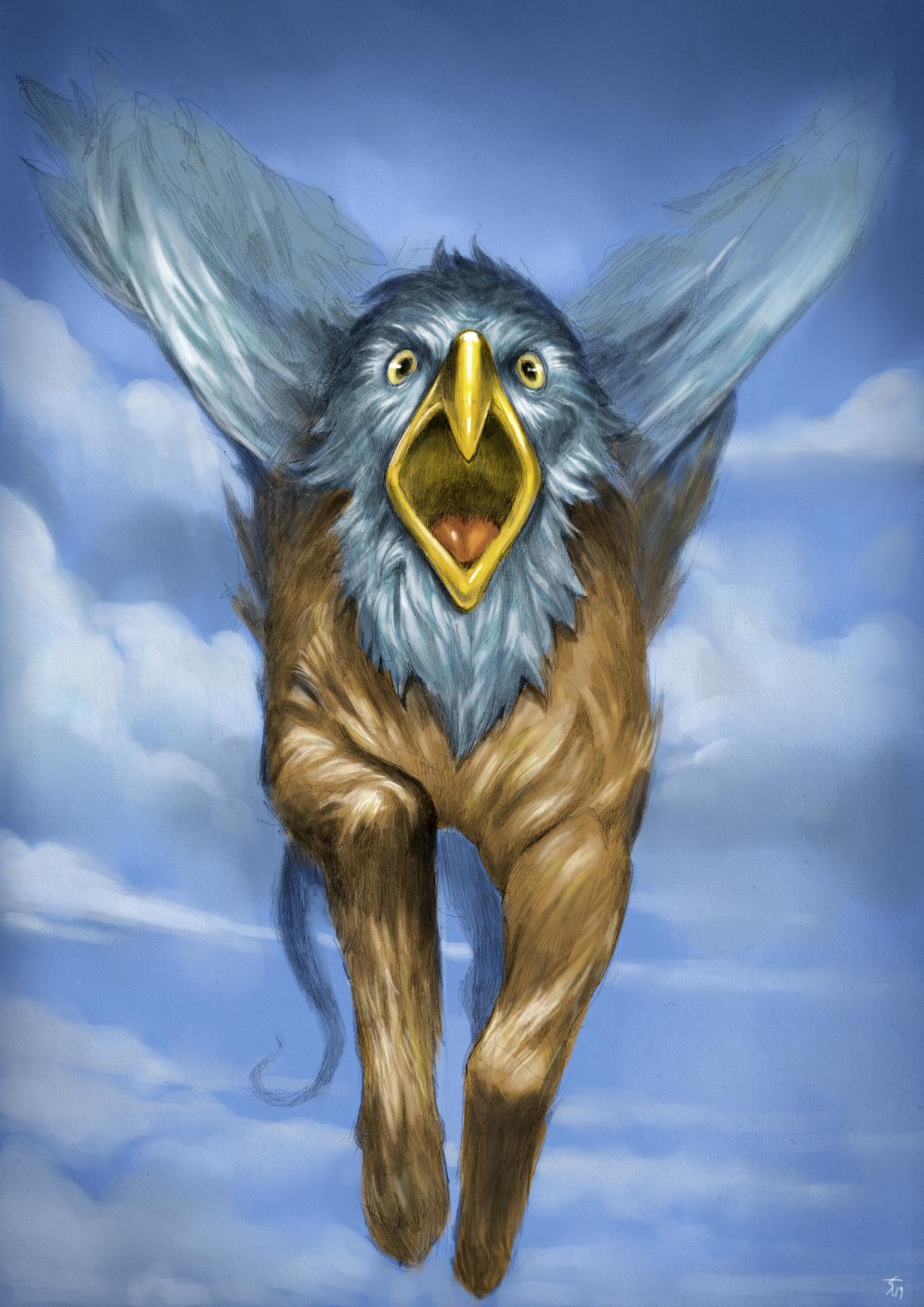 """the-murdellicious #121: """"Hippogriff"""" - by Tuomas Salmela themurling.tumblr.com (2019-07) © dell'autore tutti i diritti riservati"""