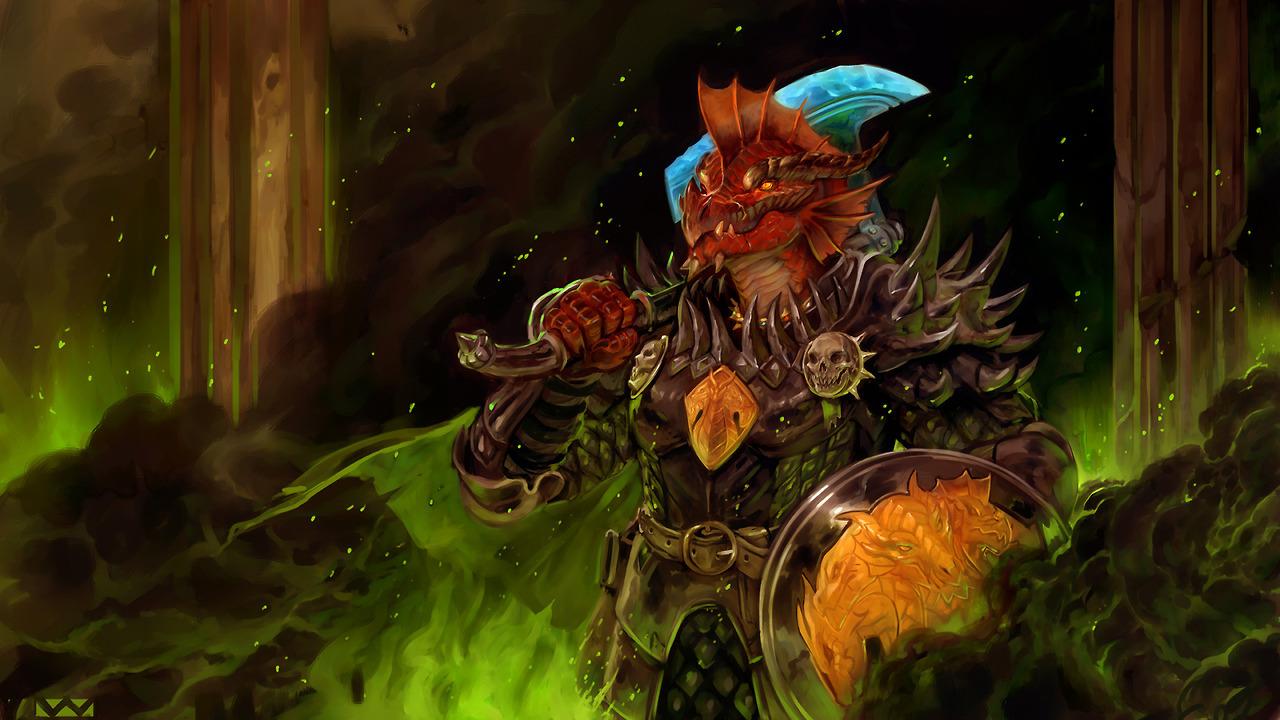 stephen-wood Arkhan il Crudele, dragonide - by Stephen Wood twitter.com/stevethegoblin (2018-02) © dell'autore, tutti i diritti riservati
