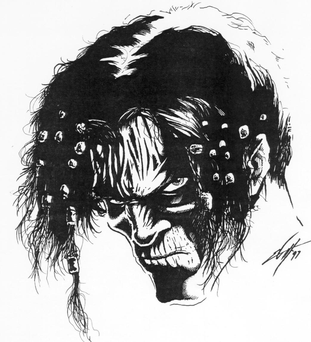 Planescape Torment Sketch - Nameless One schizzo preparatorio by Chris Avellone (1999)