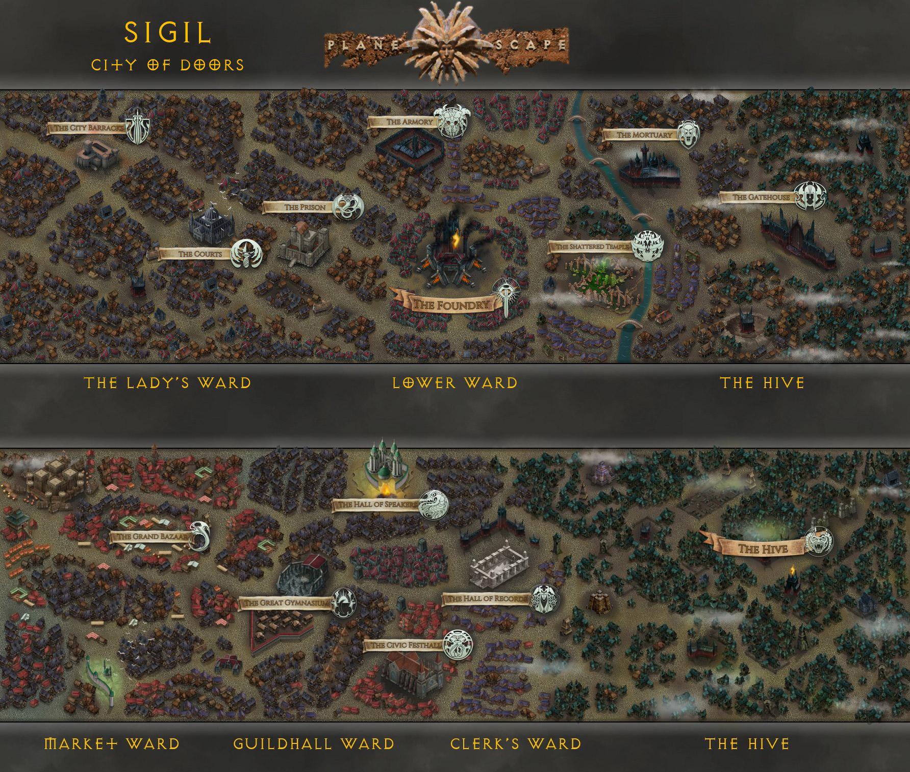 sigil inkarnate map Mappa di Sigil (realizzata in parte con l'ausilio di Inkarnate) - by Alan Traylor (@TraylorAlan) www.twitter.com/TraylorAlan (2021-06) © dell'autore, tutti i diritti riservati