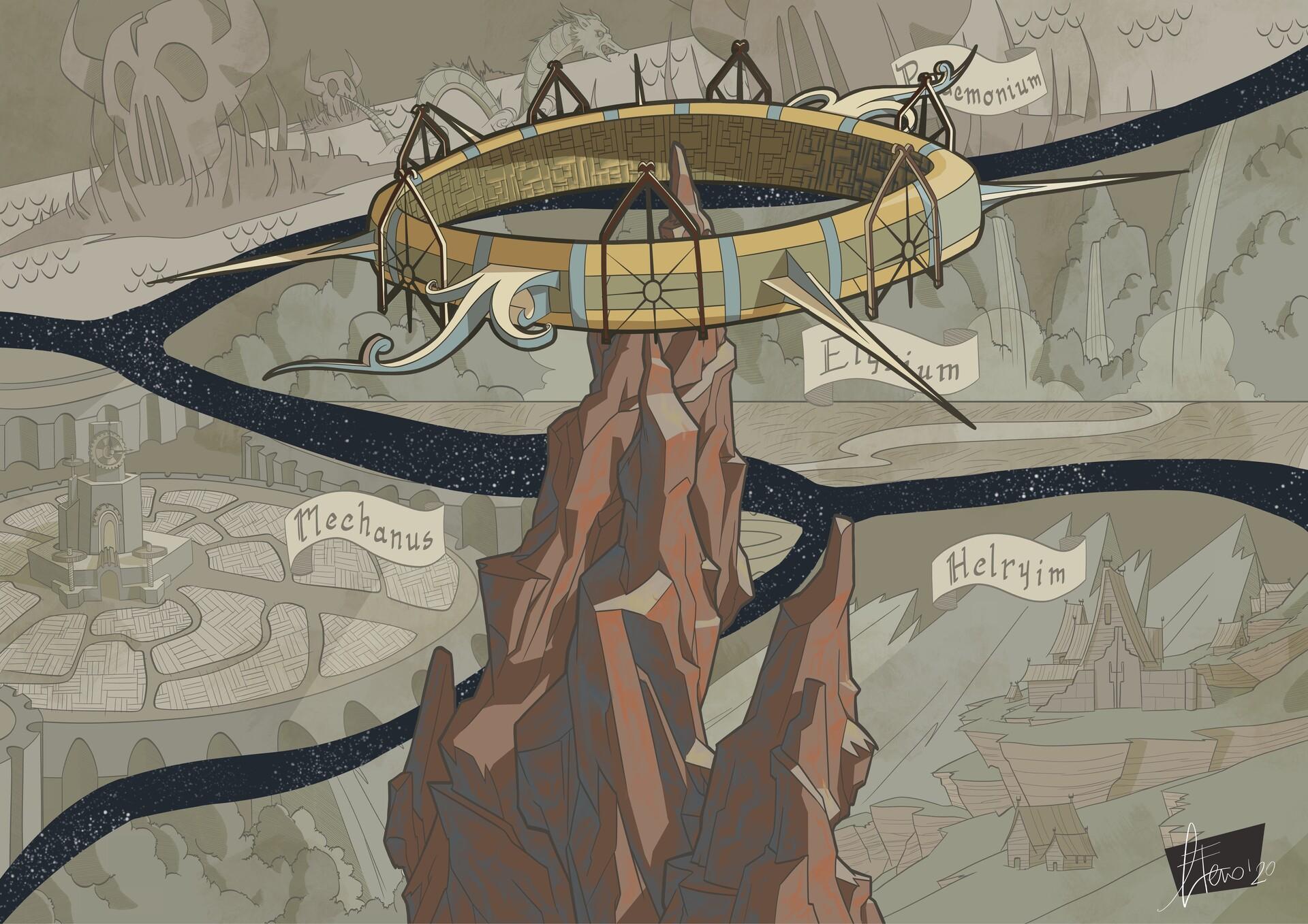 agnese eterno Sigil e i Piani Esterni - by Agnese Eterno www.artstation.com/gnagneterno (2020-05) © dell'autore, tutti i diritti riservati