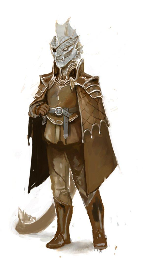 "stephen-wood ""Dragonborn hunter from Ravenloft"" da Critical Role - by Stephen Wood twitter.com/stevethegoblin (2019-07) © dell'autore, tutti i diritti riservati"