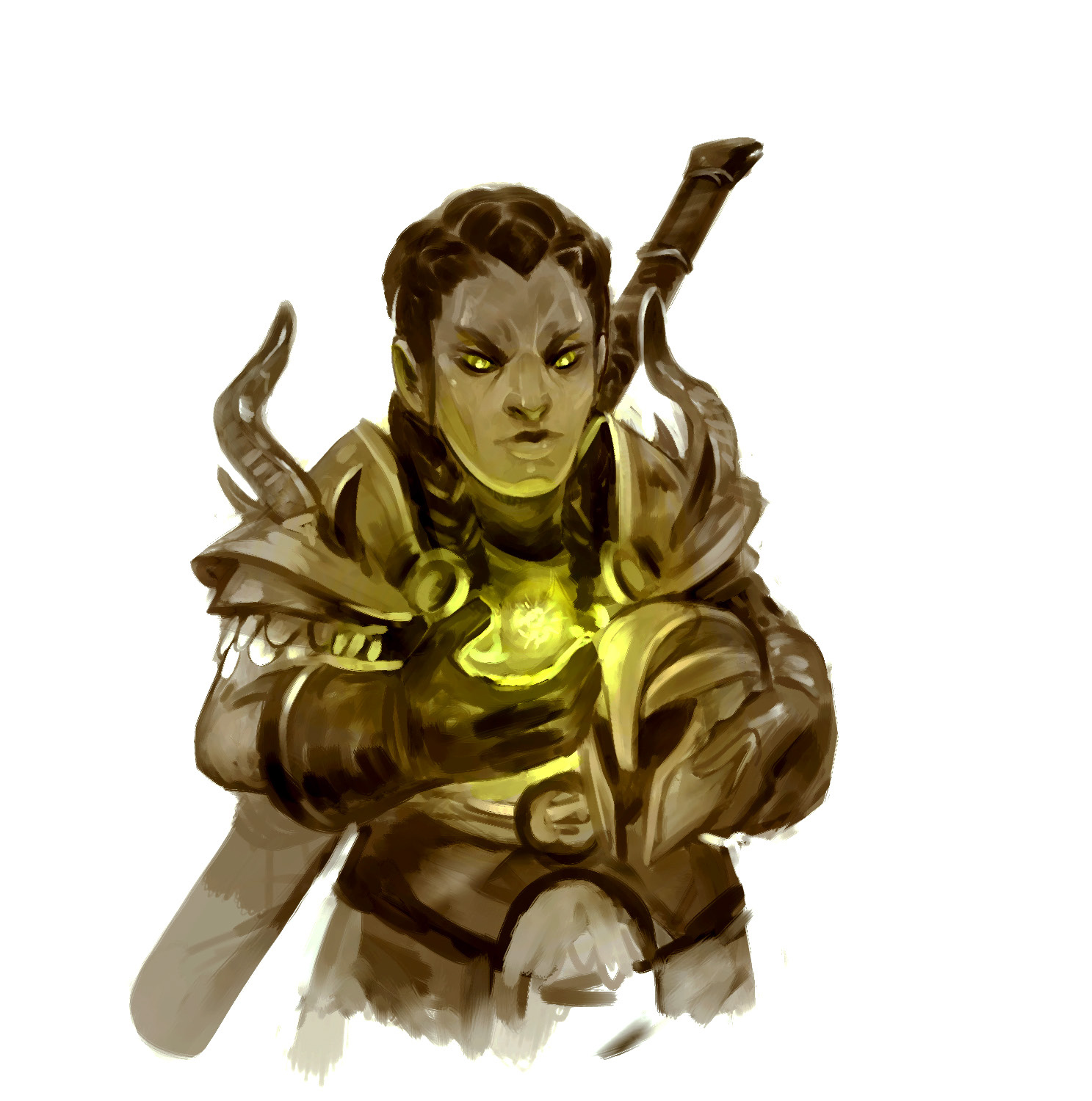 """stephen-wood Duergar paladino eretico - by Stephen Wood Dungeon Master's Guild """"Oath of the Heretic: A Paladin Path"""" (2018-05) © Wizards of the Coast e dell'autore, tutti i diritti riservati"""