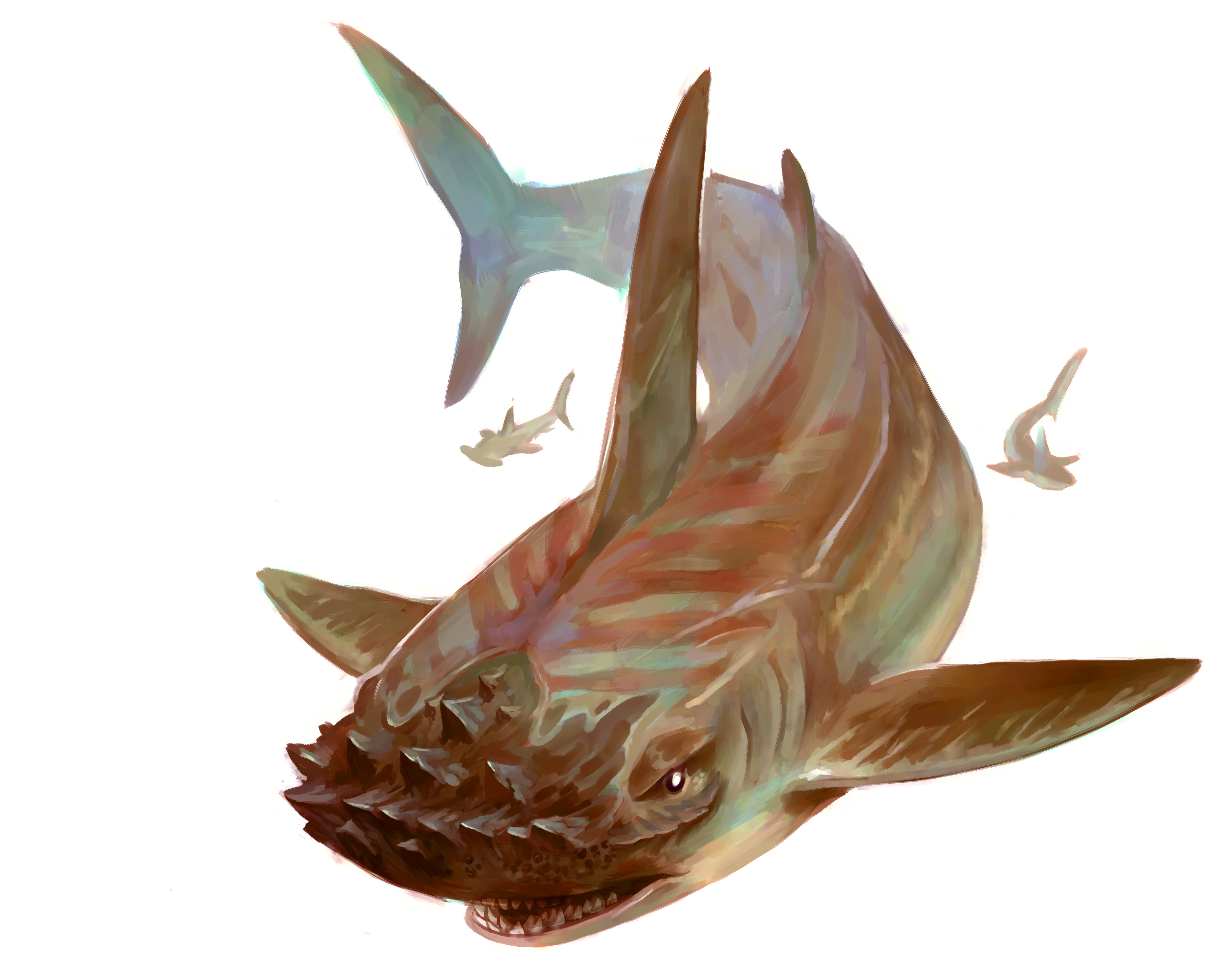 """stephen-wood """"Hull Breaker"""" - by Stephen Wood Dungeon Master's Guild """"Angler: a Ranger's Path"""" (2018-02) © Wizards of the Coast e dell'autore, tutti i diritti riservati"""