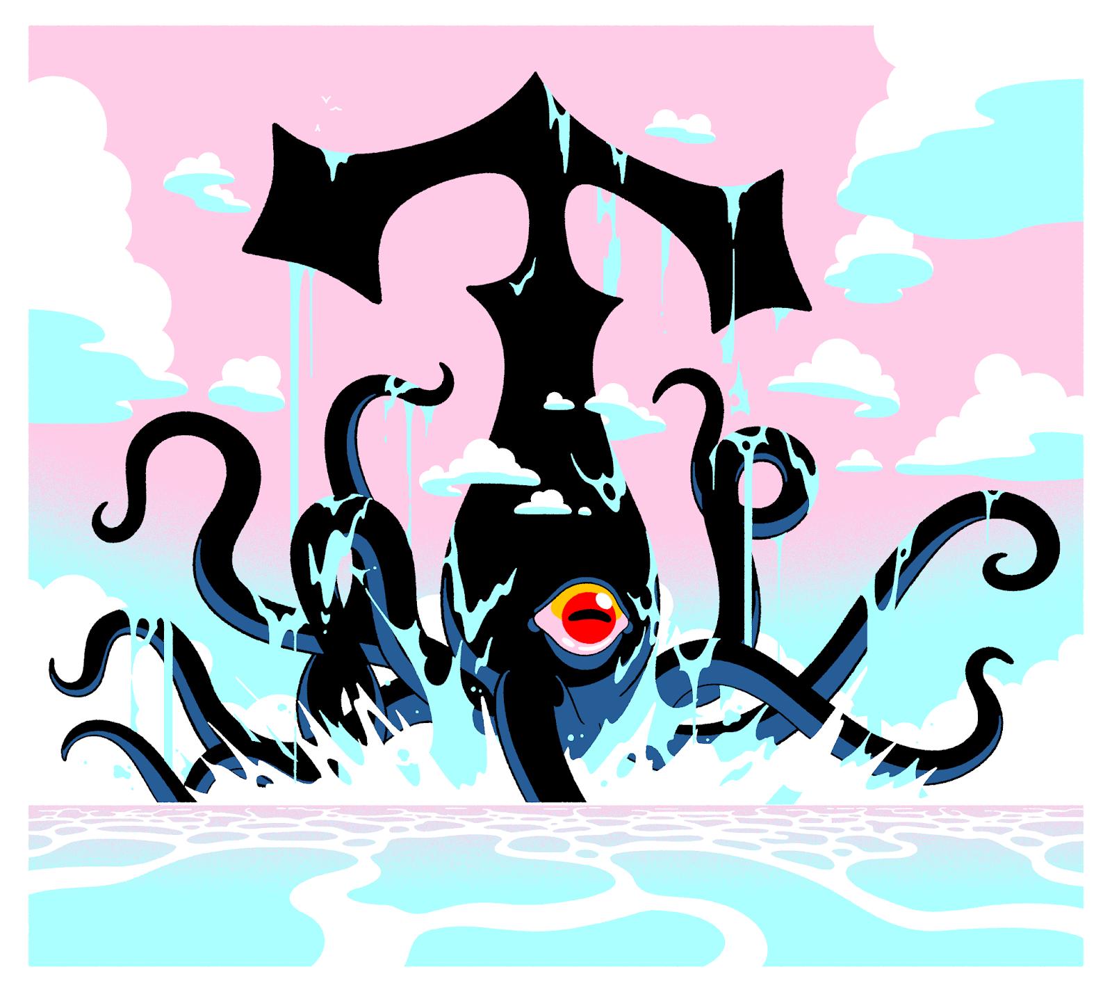 "dungeonsanddrawings ""Kraken Redux"" - by Joe Sparrow dungeonsanddrawings.blogspot.com (2018-10) © dell'autore tutti i diritti riservati"