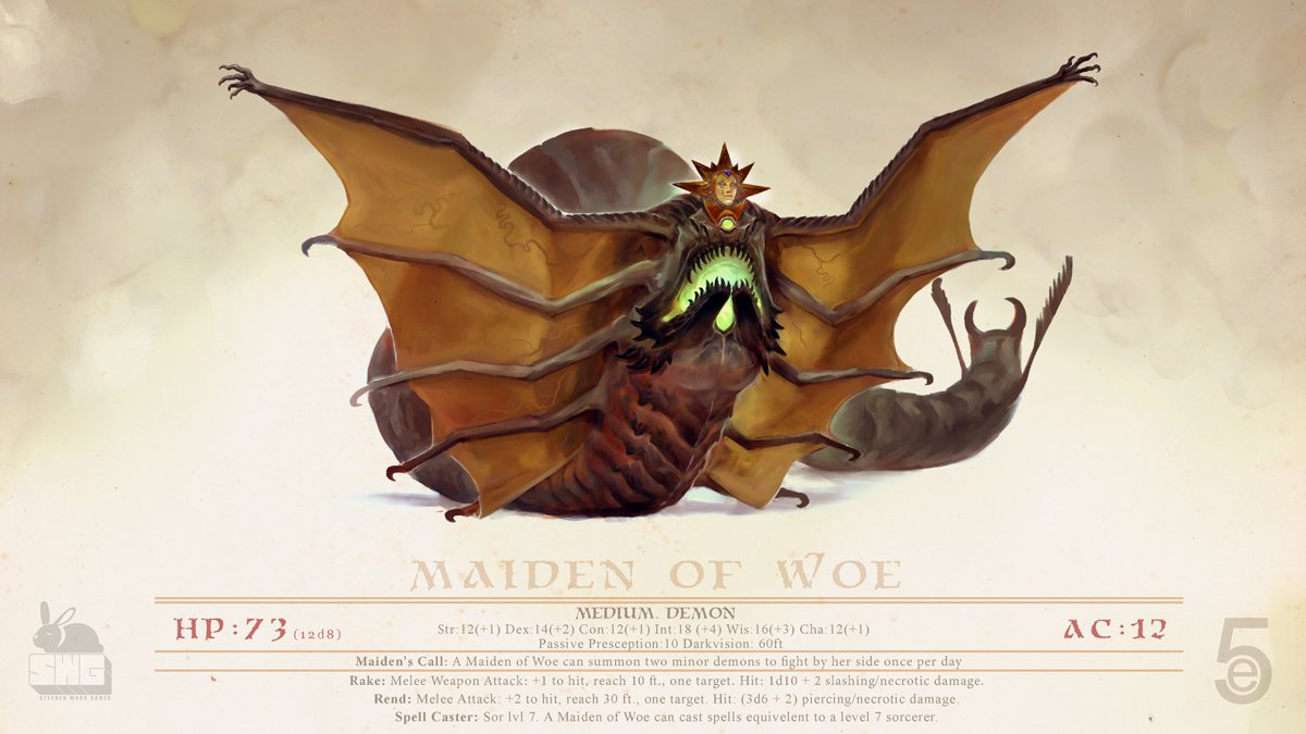 stephen-wood Maiden of Woe Demon - by Stephen Wood twitter.com/stevethegoblin (2018-12 © dell'autore, tutti i diritti riservati