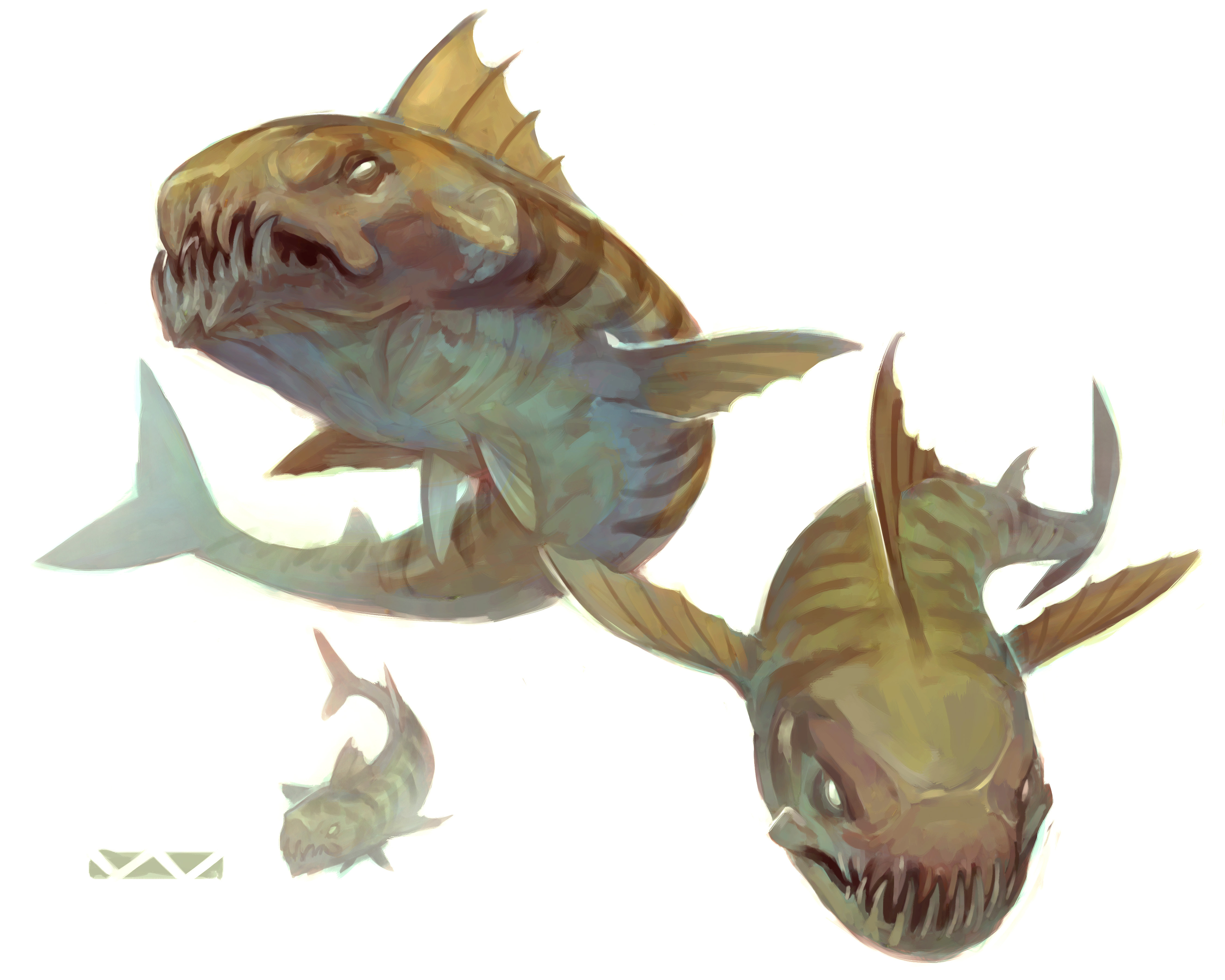"""stephen-wood """"Merrow Wolf"""" - by Stephen Wood Dungeon Master's Guild """"Angler: a Ranger's Path"""" (2018-02) © Wizards of the Coast e dell'autore, tutti i diritti riservati"""