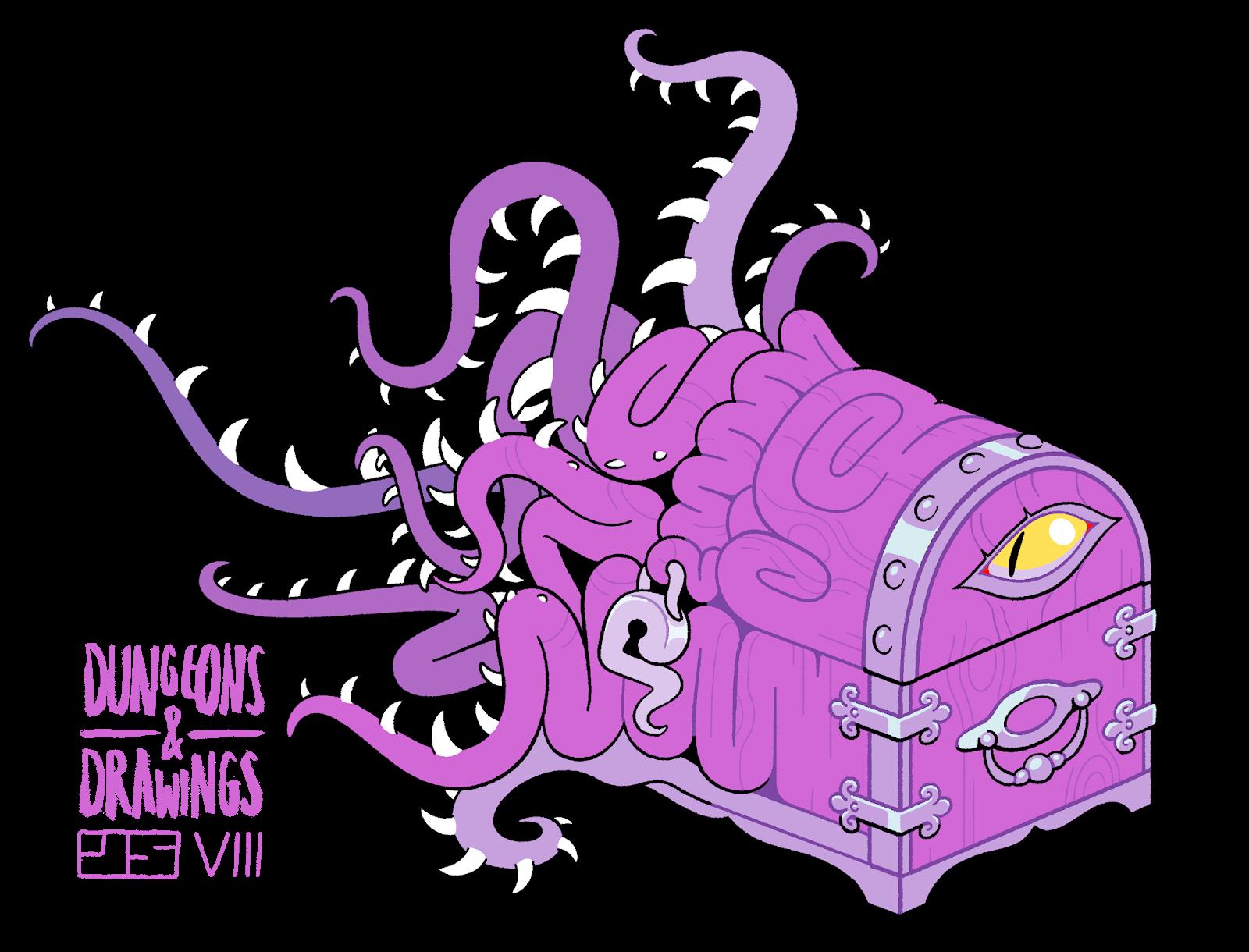 "dungeonsanddrawings ""Mimic Redux"" - by Joe Sparrow dungeonsanddrawings.blogspot.com (2018-11) © dell'autore tutti i diritti riservati"