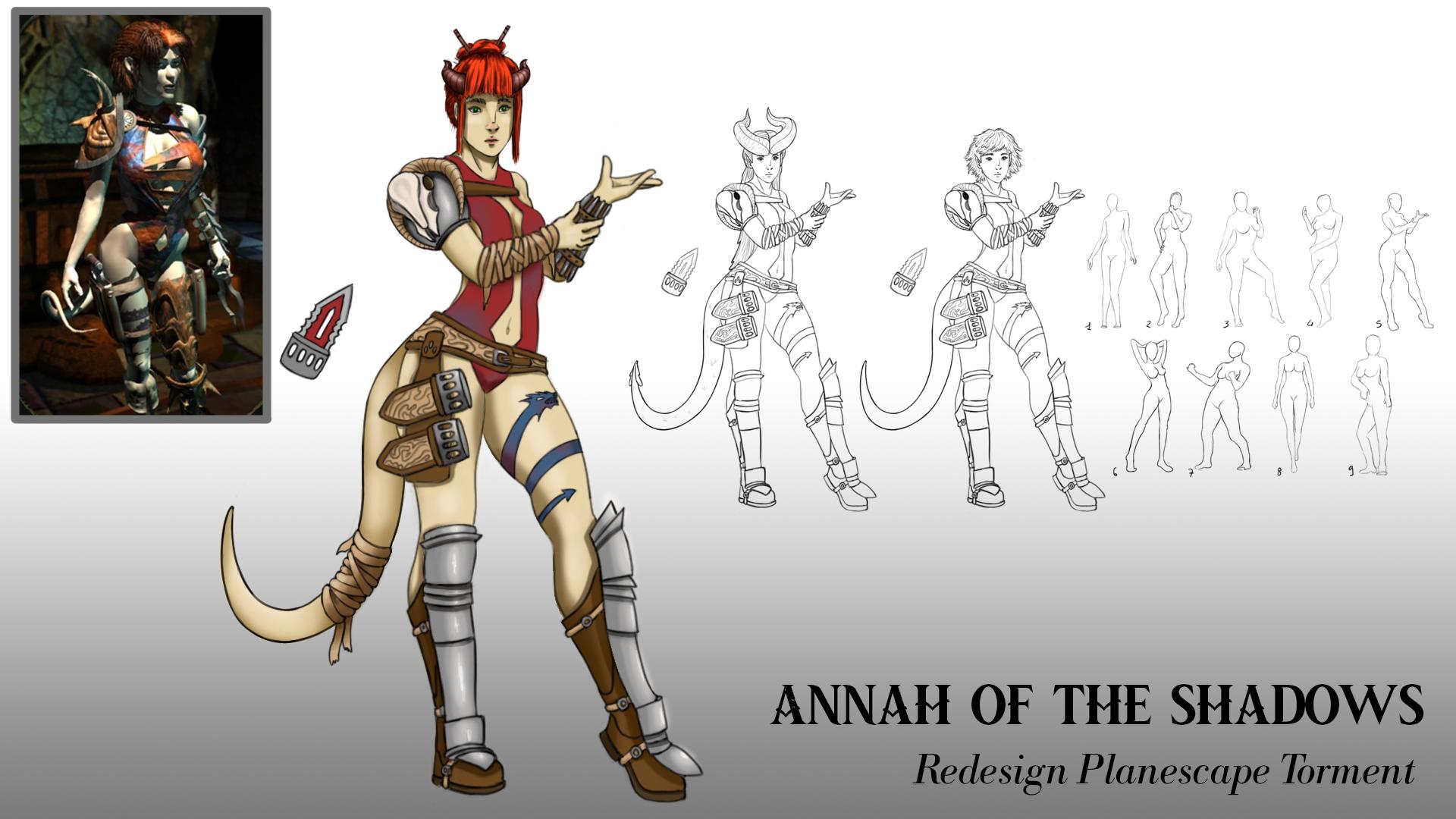 {$tags} Concept study personaggio, Annah - by Ruggero Ciliento Planescape Torment Redesign Project (2020) © Scuola Internazionale di Comics Torino e dell'autore, tutti i diritti riservati