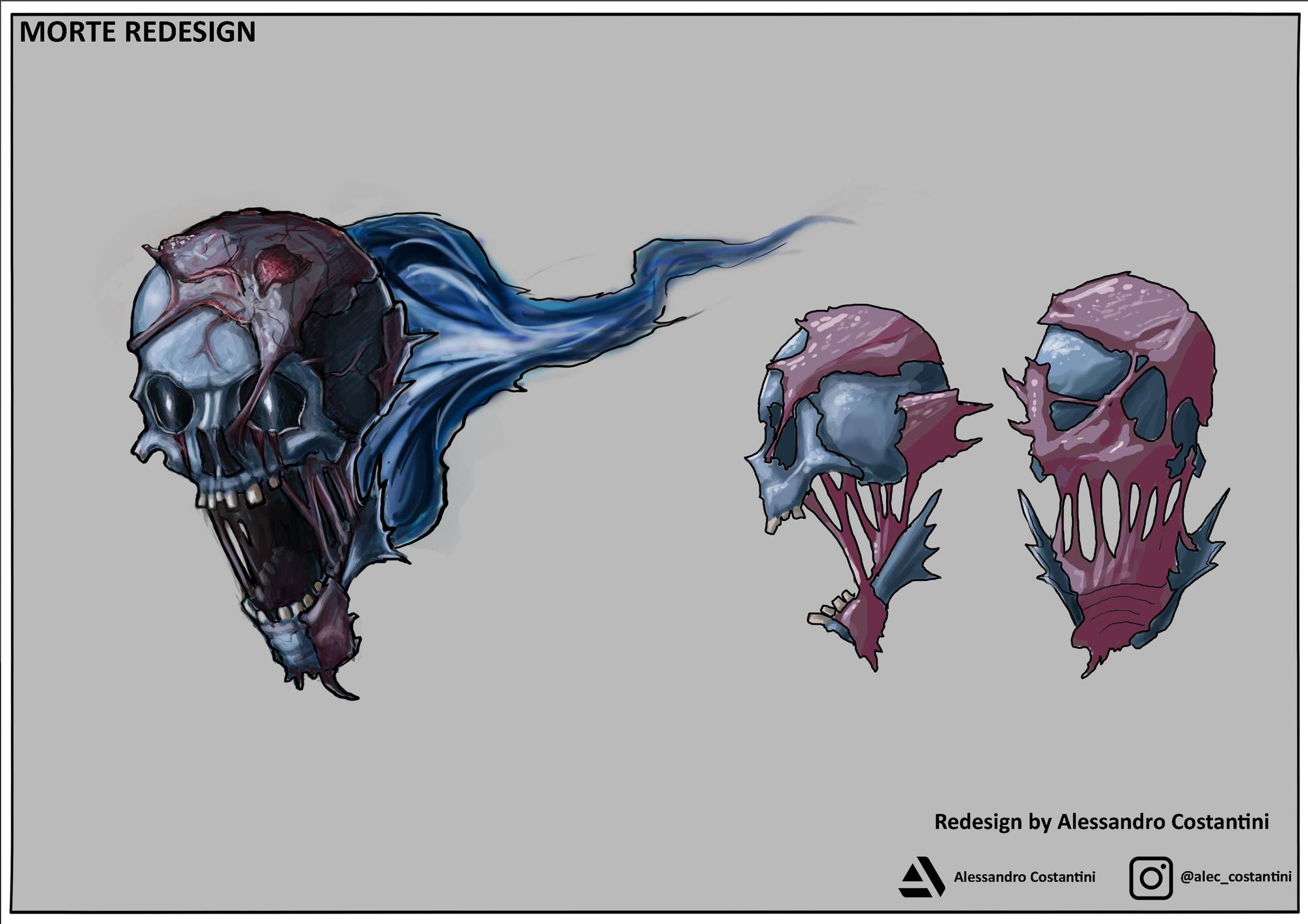 {$tags} Concept study personaggio, Morte - by Alessandro Costantini Planescape Torment Redesign Project (2020) © Scuola Internazionale di Comics Torino e dell'autore, tutti i diritti riservati