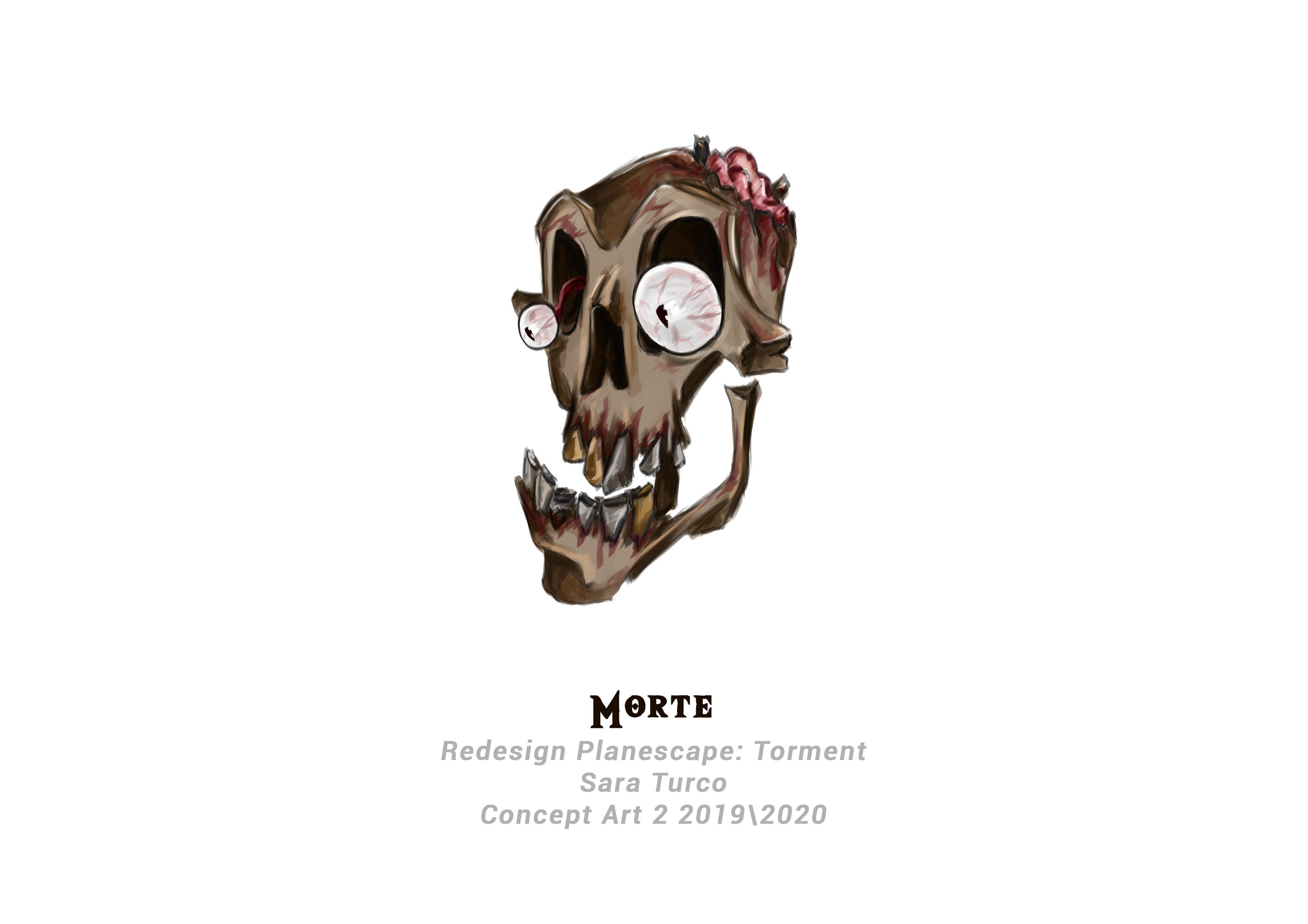 {$tags} Concept study personaggio, Morte - by Sara Turco Planescape Torment Redesign Project (2020) © Scuola Internazionale di Comics Torino e dell'autore, tutti i diritti riservati