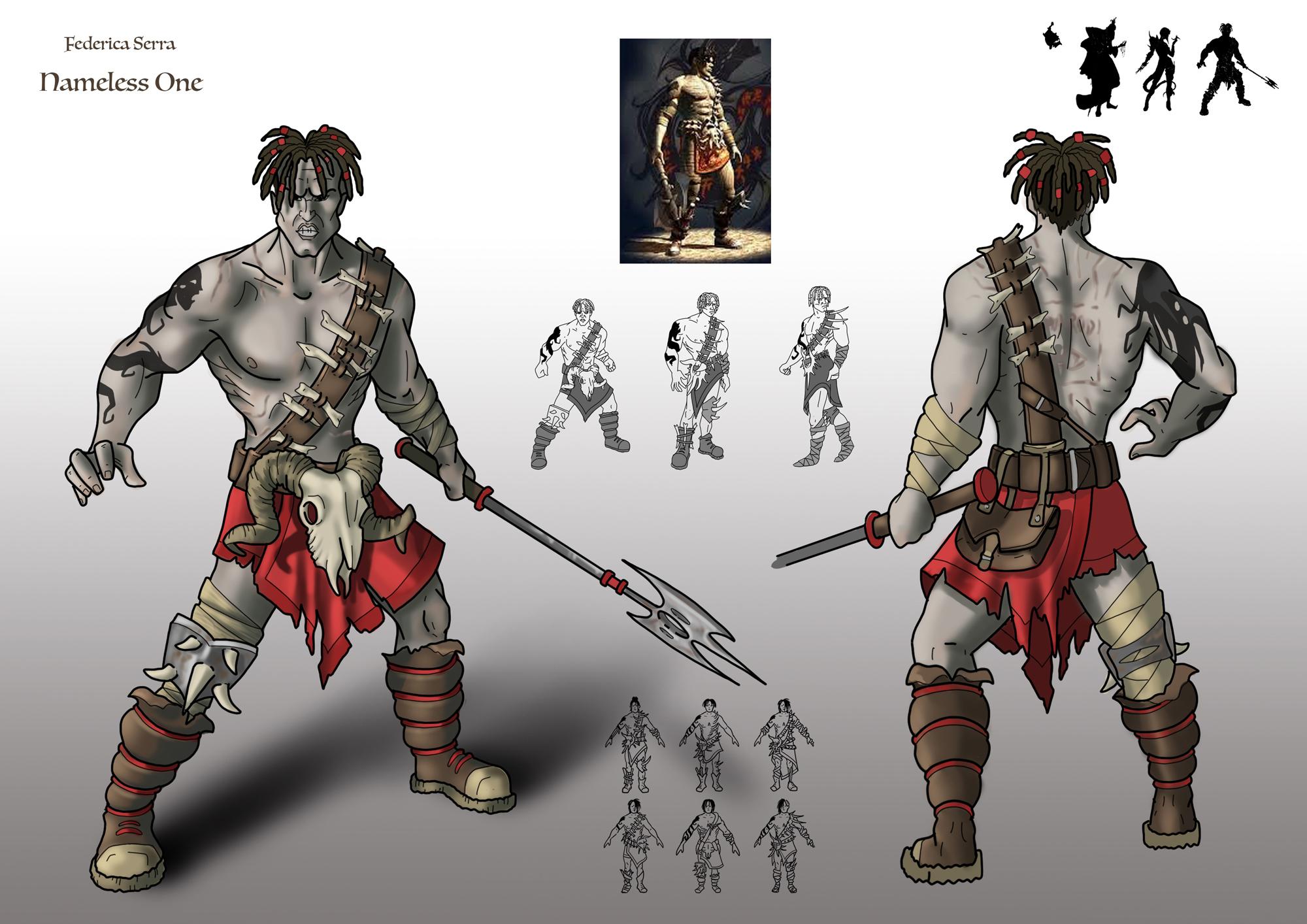 {$tags} Concept study personaggio, Nameless One - by Federica Serra Planescape Torment Redesign Project (2020) © Scuola Internazionale di Comics Torino e dell'autore, tutti i diritti riservati