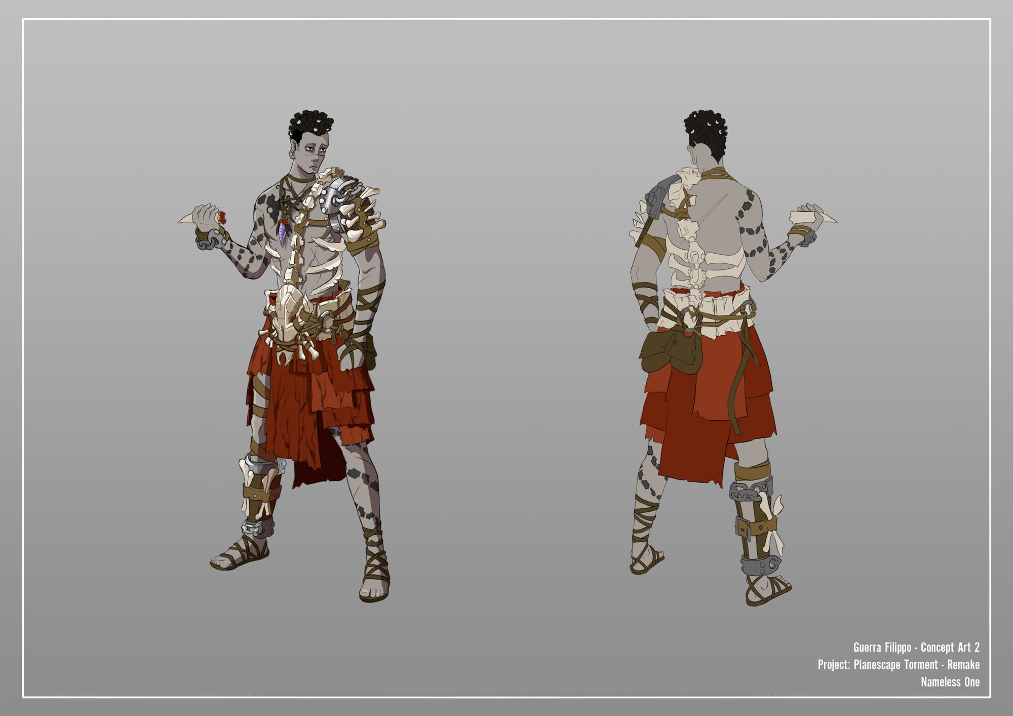 {$tags} Concept study personaggio, Nameless One - by Filippo Guerra Planescape Torment Redesign Project (2020) © Scuola Internazionale di Comics Torino e dell'autore, tutti i diritti riservati