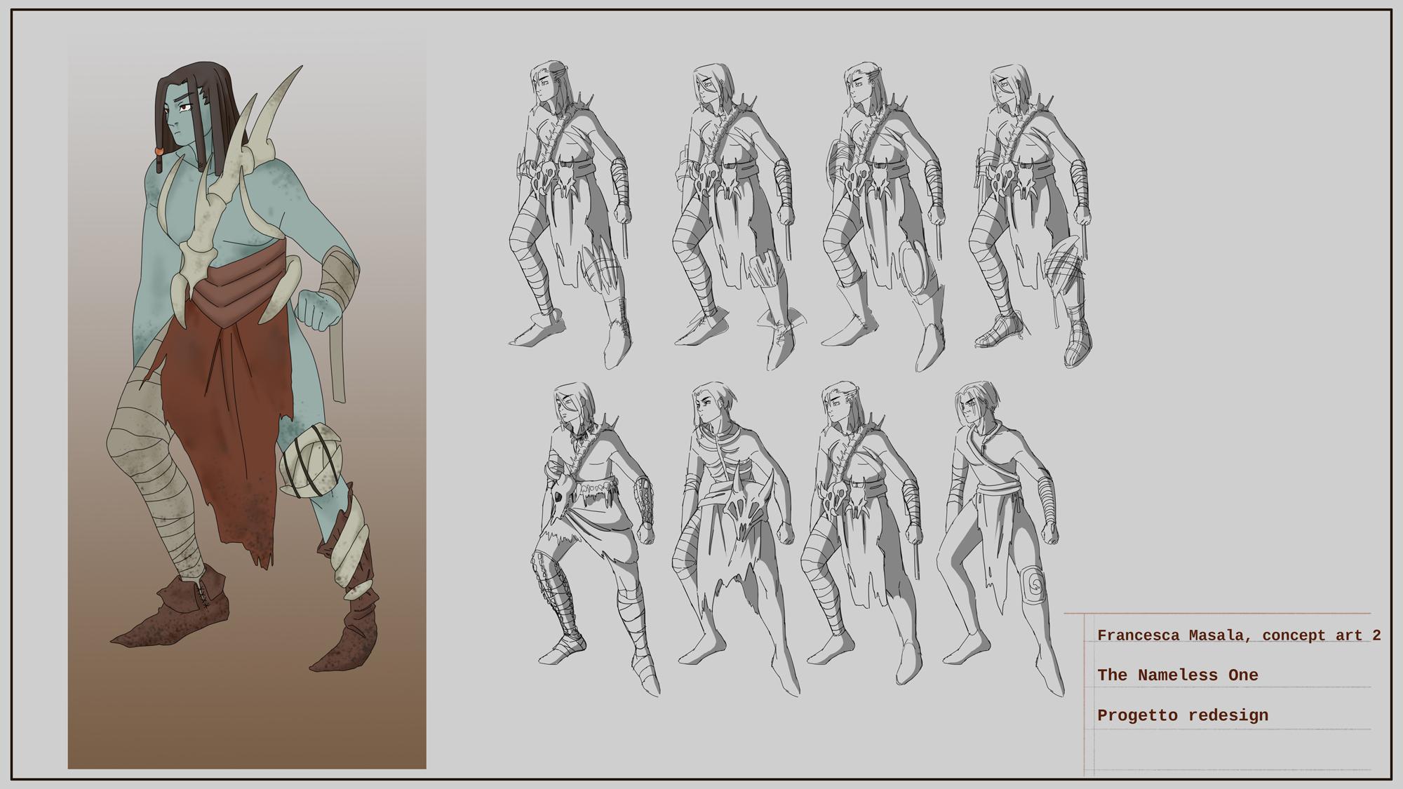 {$tags} Concept study personaggio, Nameless One - by Francesca Masala Planescape Torment Redesign Project (2020) © Scuola Internazionale di Comics Torino e dell'autore, tutti i diritti riservati