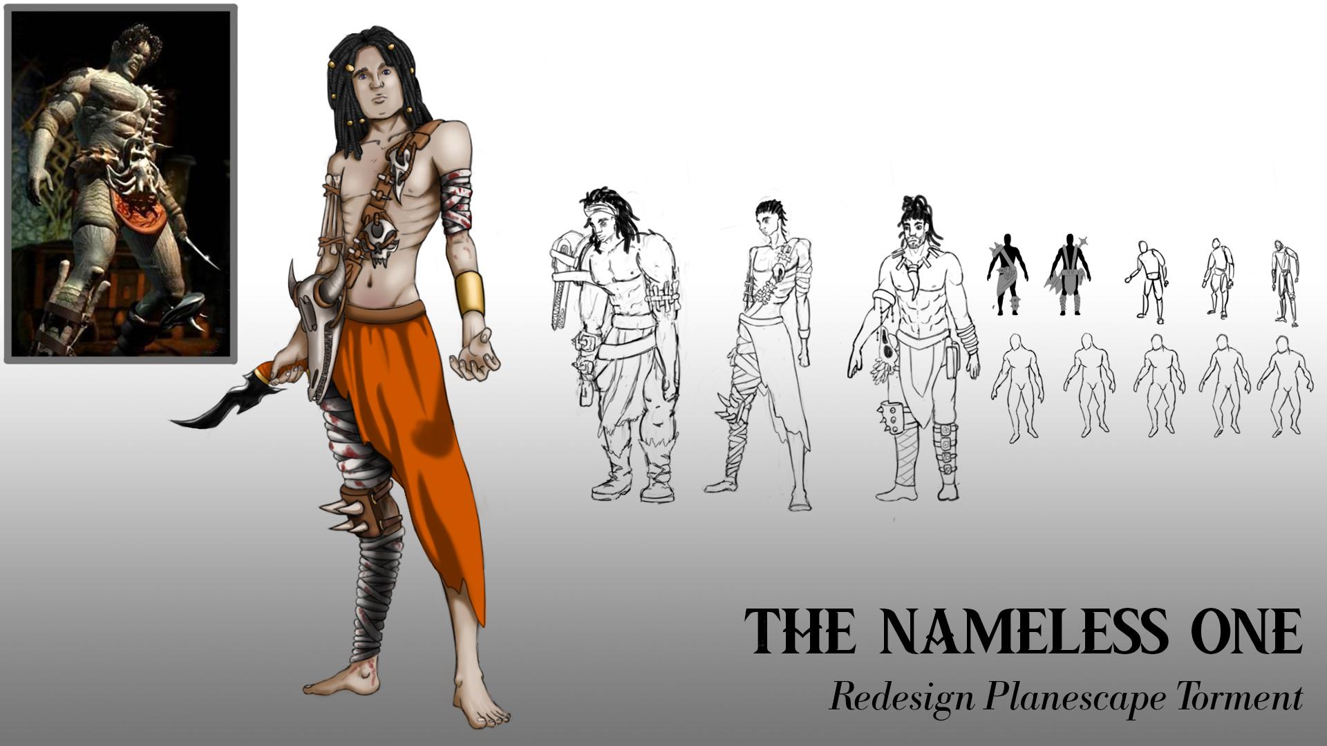 {$tags} Concept study personaggio, Nameless One - by Ruggero Ciliento Planescape Torment Redesign Project (2020) © Scuola Internazionale di Comics Torino e dell'autore, tutti i diritti riservati