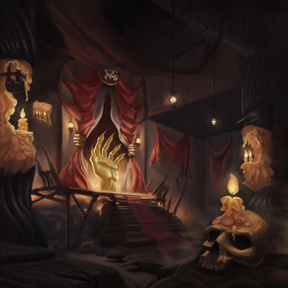 {$tags} Card promozionale, Pharod's Court - by Sergio Strano Planescape Torment Redesign Project (2020) © Scuola Internazionale di Comics Torino e dell'autore, tutti i diritti riservati