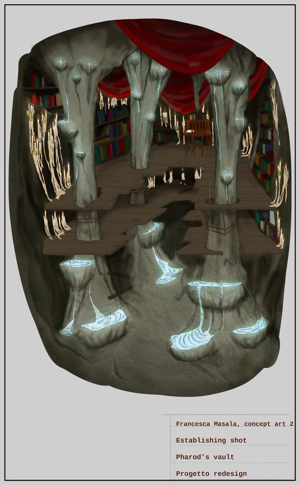 {$tags} Concept ambiente, Pharod's Vault - by Francesca Masala Planescape Torment Redesign Project (2020) © Scuola Internazionale di Comics Torino e dell'autore, tutti i diritti riservati