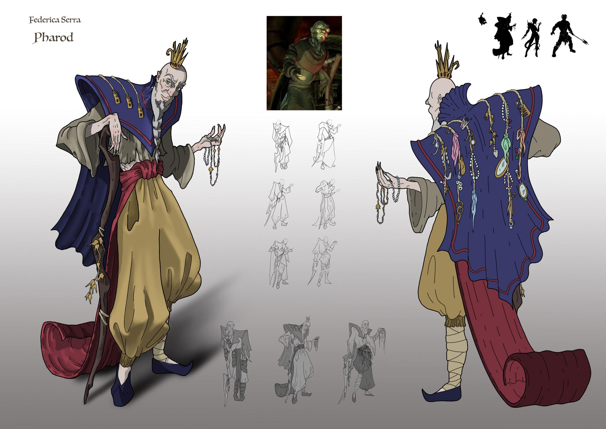 {$tags} Concept study personaggio, Pharod - by Federica Serra Planescape Torment Redesign Project (2020) © Scuola Internazionale di Comics Torino e dell'autore, tutti i diritti riservati