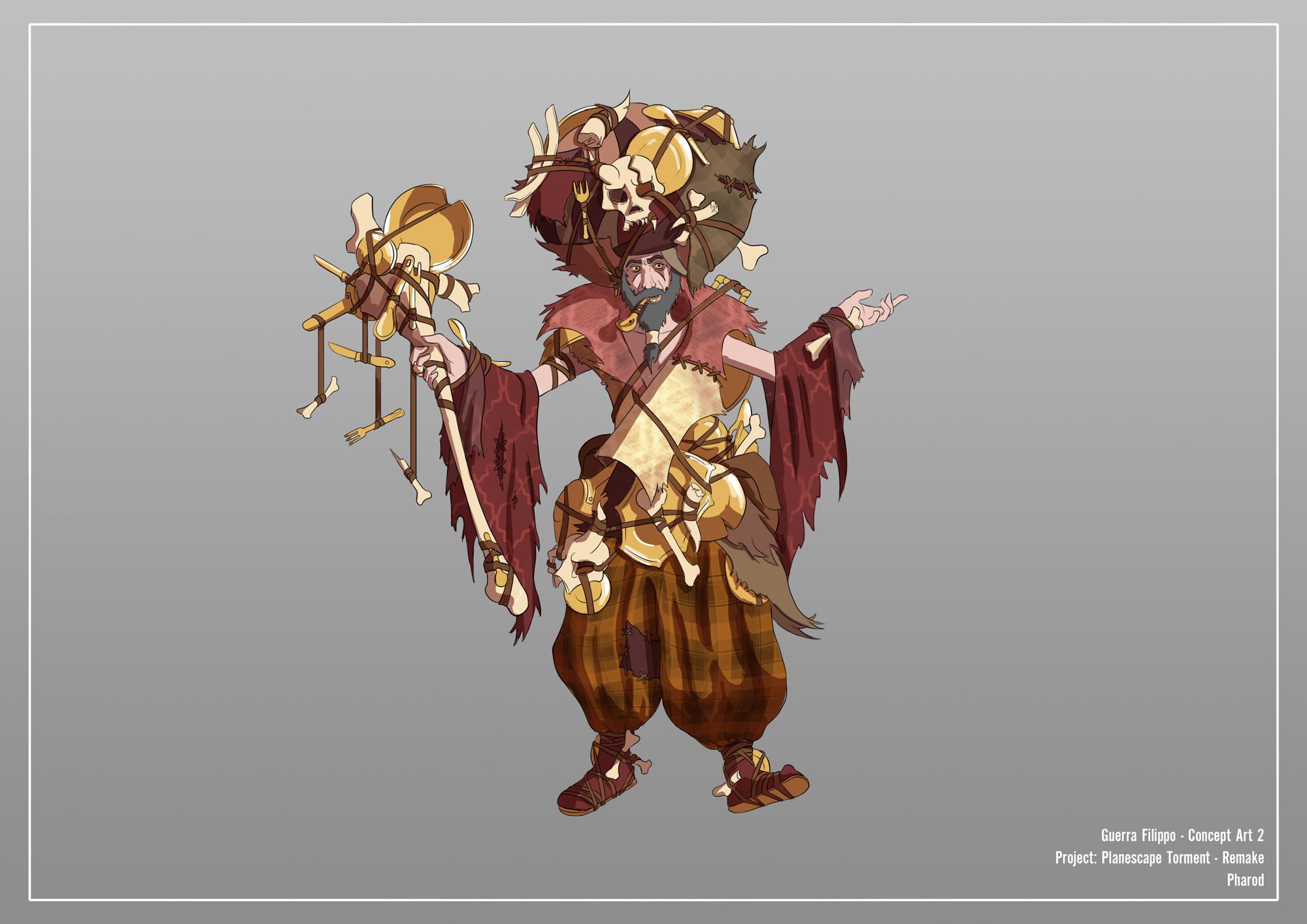 {$tags} Concept study personaggio, Pharod - by Filippo Guerra Planescape Torment Redesign Project (2020) © Scuola Internazionale di Comics Torino e dell'autore, tutti i diritti riservati