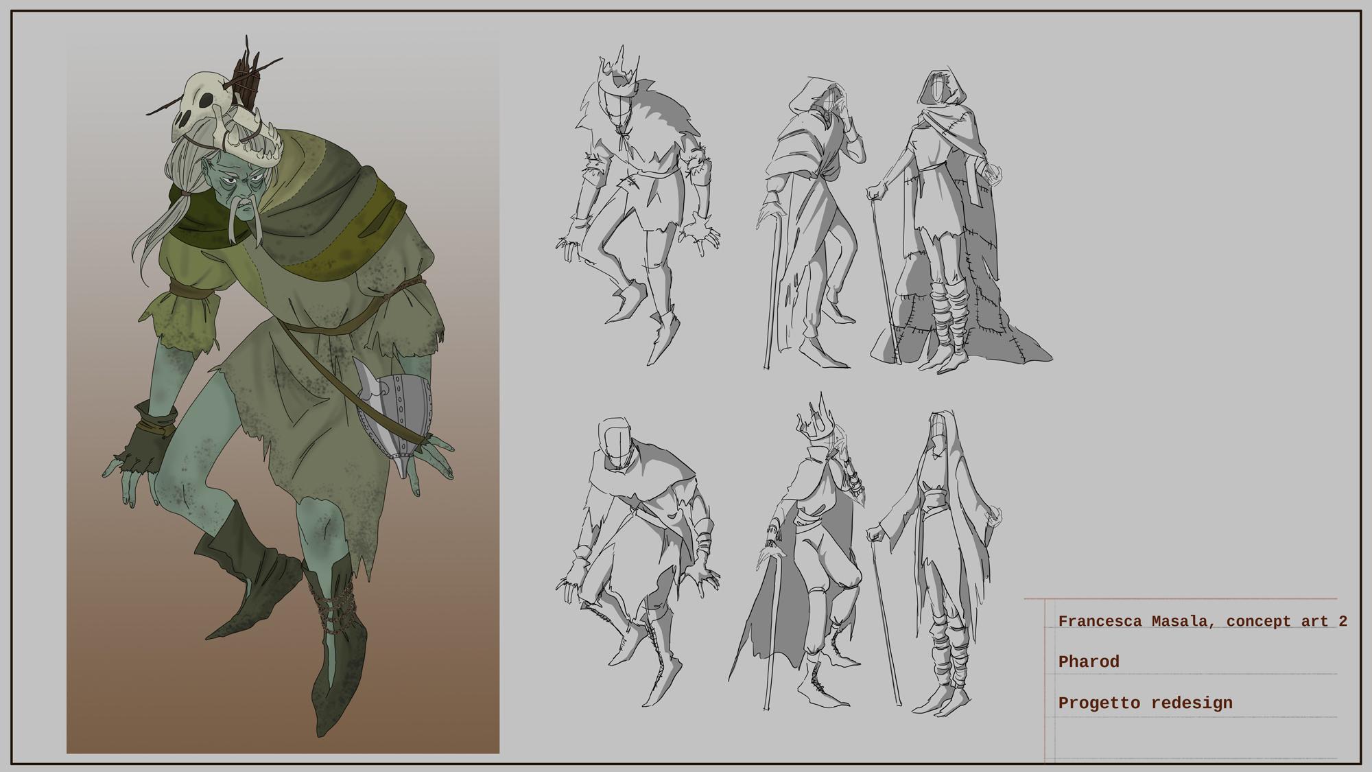 {$tags} Concept study personaggio, Pharod - by Francesca Masala Planescape Torment Redesign Project (2020) © Scuola Internazionale di Comics Torino e dell'autore, tutti i diritti riservati