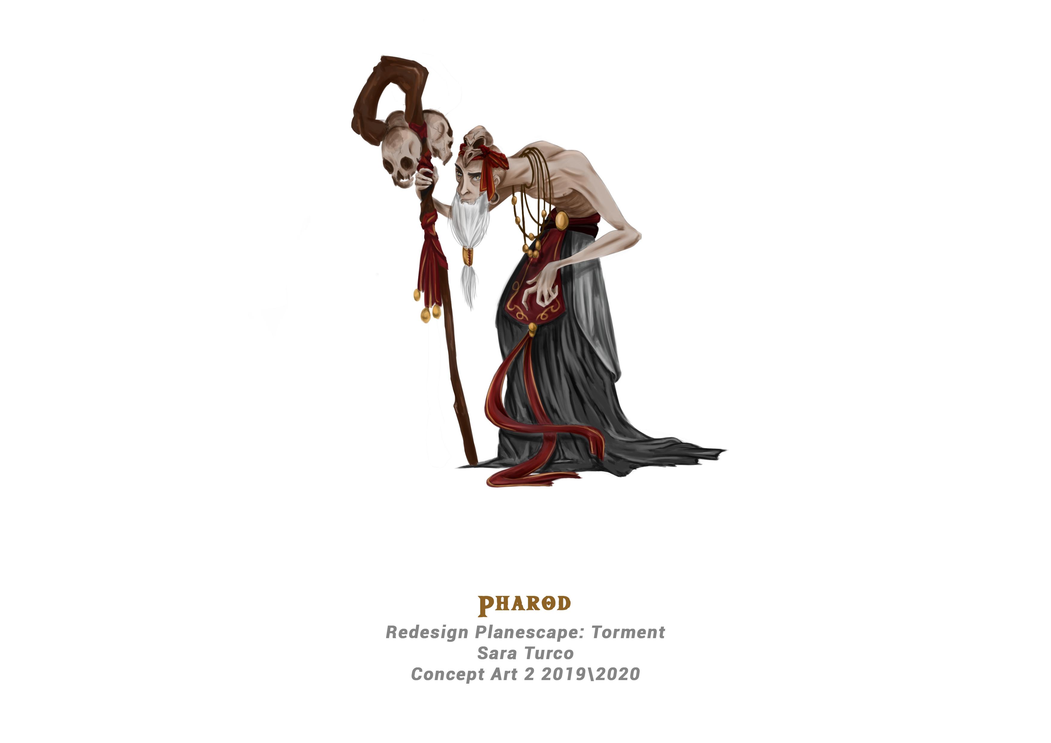 {$tags} Concept study personaggio, Pharod - by Sara Turco Planescape Torment Redesign Project (2020) © Scuola Internazionale di Comics Torino e dell'autore, tutti i diritti riservati
