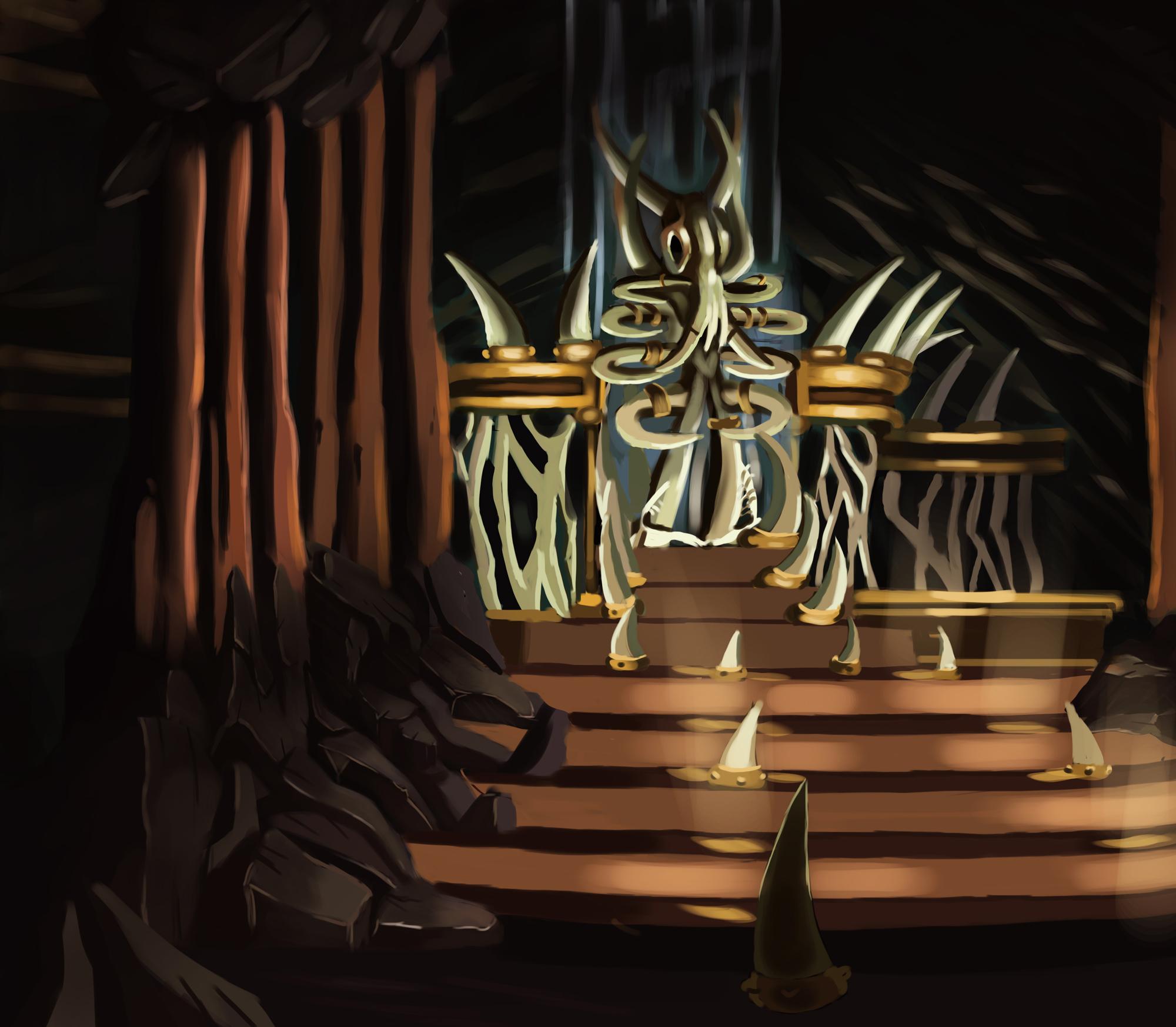 {$tags} Card promozionale, Silent King's Throne - by Michelle Alocci Planescape Torment Redesign Project (2020) © Scuola Internazionale di Comics Torino e dell'autore, tutti i diritti riservati