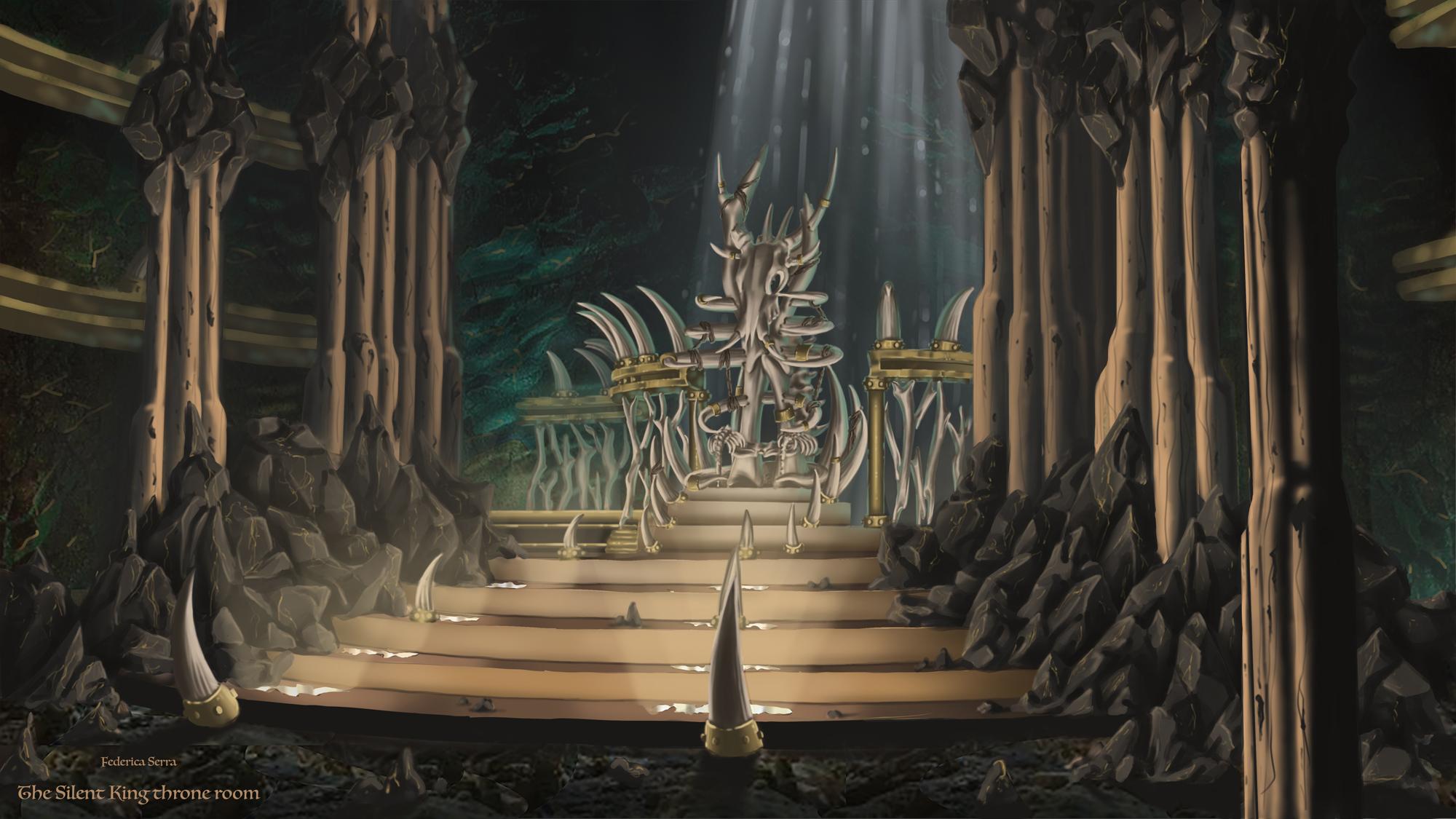 {$tags} Concept ambiente, Silent King's Throne Room - by Federica Serra Planescape Torment Redesign Project (2020) © Scuola Internazionale di Comics Torino e dell'autore, tutti i diritti riservati