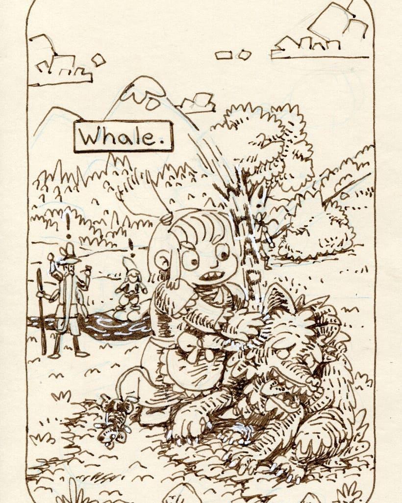 "redjarojam ""Whale"", Inktober 12 - by Jared DeCosta (redjarojam) www.instagram.com/redjarojam (2018-10) © dell'autore tutti i diritti riservati"