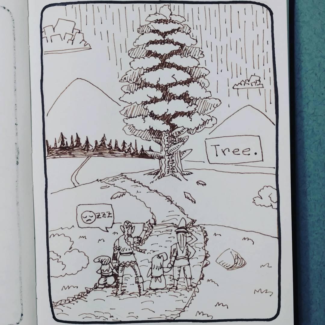 """redjarojam """"Tree"""", Inktober 14 - by Jared DeCosta (redjarojam) www.instagram.com/redjarojam (2016-10) © dell'autore tutti i diritti riservati"""