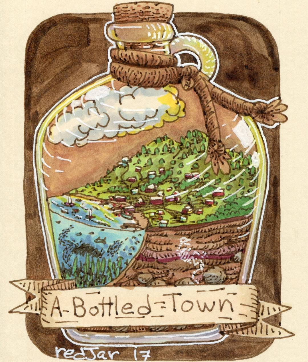 """redjarojam """"A Bottled Town"""" - by Jared DeCosta (redjarojam) www.instagram.com/redjarojam (2017-04) © dell'autore tutti i diritti riservati"""