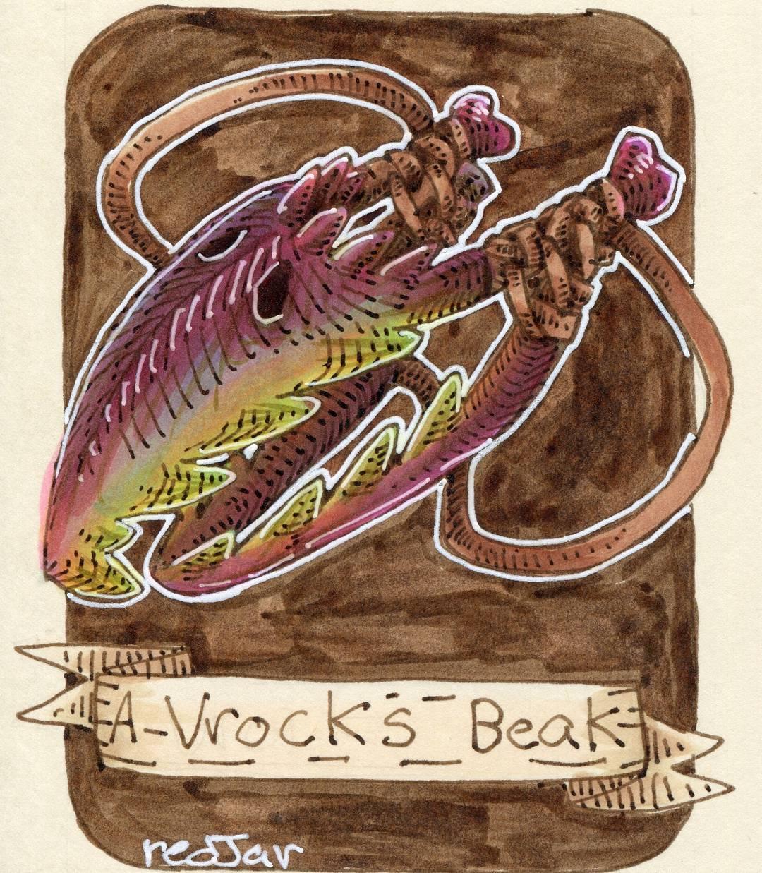 """redjarojam """"A Vrock's Beak"""" - by Jared DeCosta (redjarojam) www.instagram.com/redjarojam (2019-04) © dell'autore tutti i diritti riservati"""