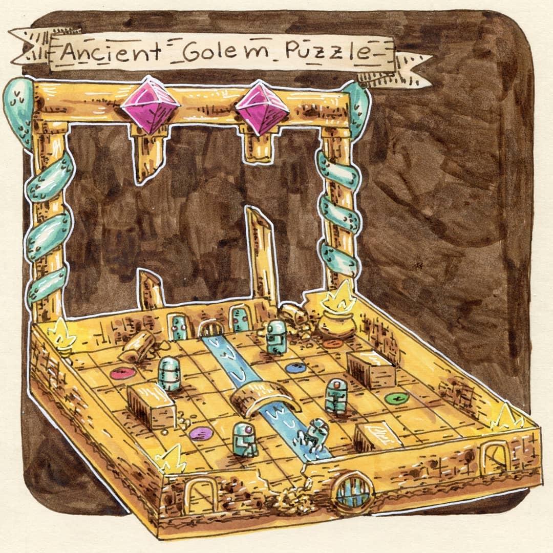 """redjarojam """"Ancient Golem _Puzzle"""" - by Jared DeCosta (redjarojam) www.instagram.com/redjarojam (2018-08) © dell'autore tutti i diritti riservati"""