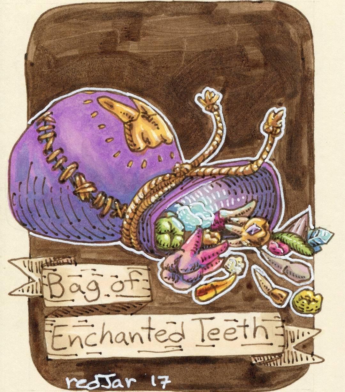 """redjarojam """"Bag of Enchanted Teeth"""" - by Jared DeCosta (redjarojam) www.instagram.com/redjarojam (2017-04) © dell'autore tutti i diritti riservati"""