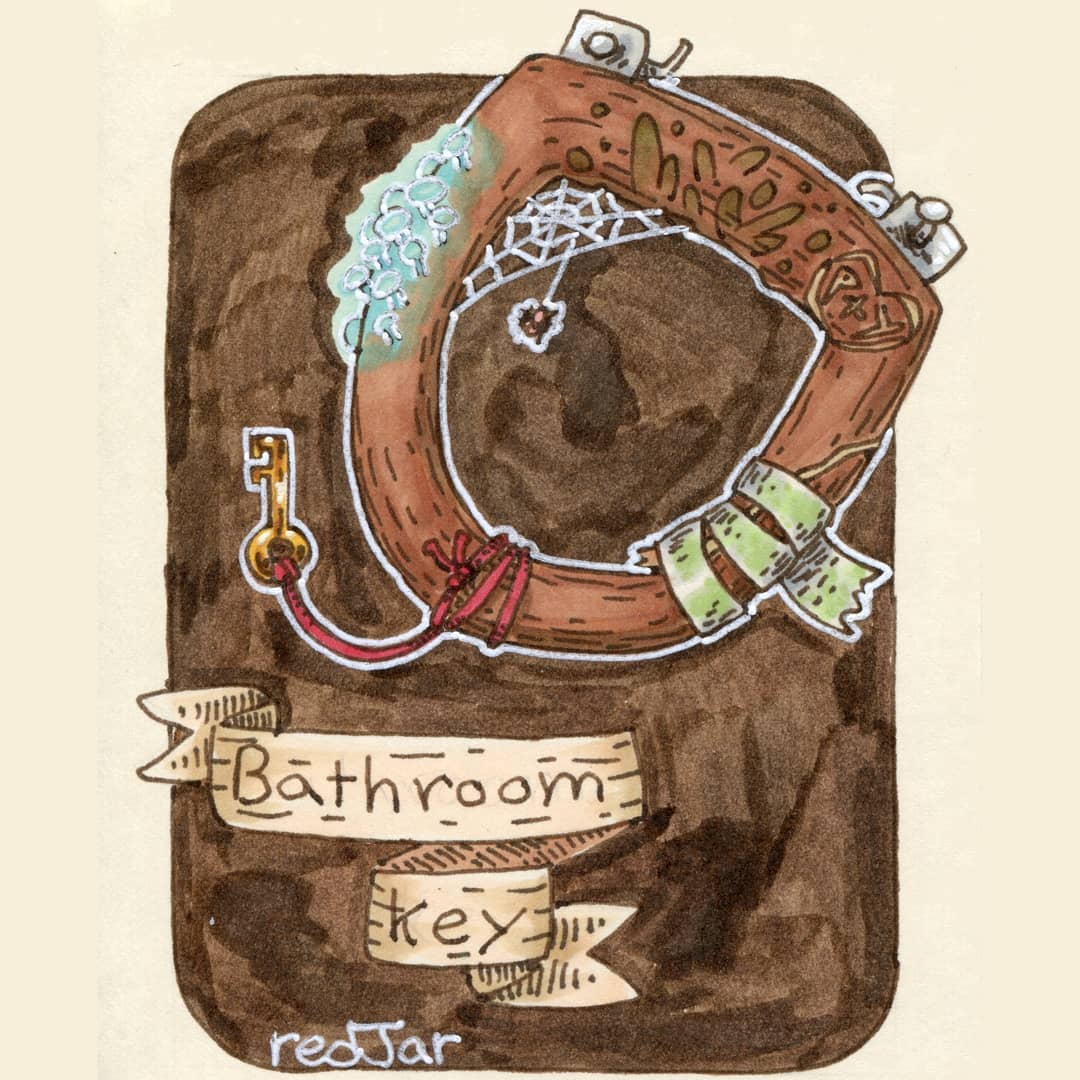 """redjarojam """"Bathroom Key"""" - by Jared DeCosta (redjarojam) www.instagram.com/redjarojam (2019-02) © dell'autore tutti i diritti riservati"""