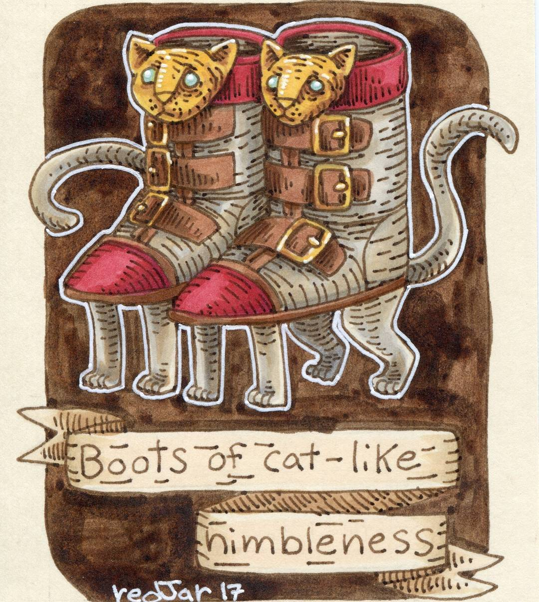 """redjarojam """"Boots of Cat-like Nimbleness"""" - by Jared DeCosta (redjarojam) www.instagram.com/redjarojam (2017-03) © dell'autore tutti i diritti riservati"""