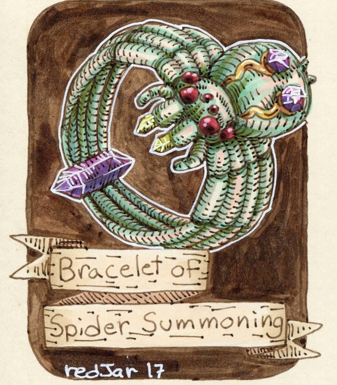 "redjarojam ""Bracelet of Spider Summoning"" - by Jared DeCosta (redjarojam) www.instagram.com/redjarojam (2017-04) © dell'autore tutti i diritti riservati"