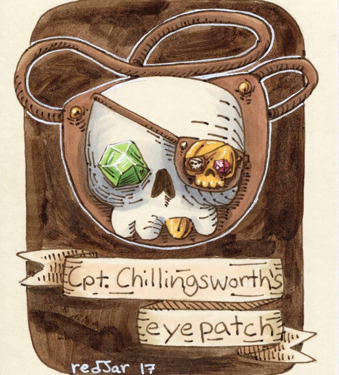 "redjarojam ""Cpt. Chillingsworth's Eyepatch"" - by Jared DeCosta (redjarojam) www.instagram.com/redjarojam (2017-03) © dell'autore tutti i diritti riservati"