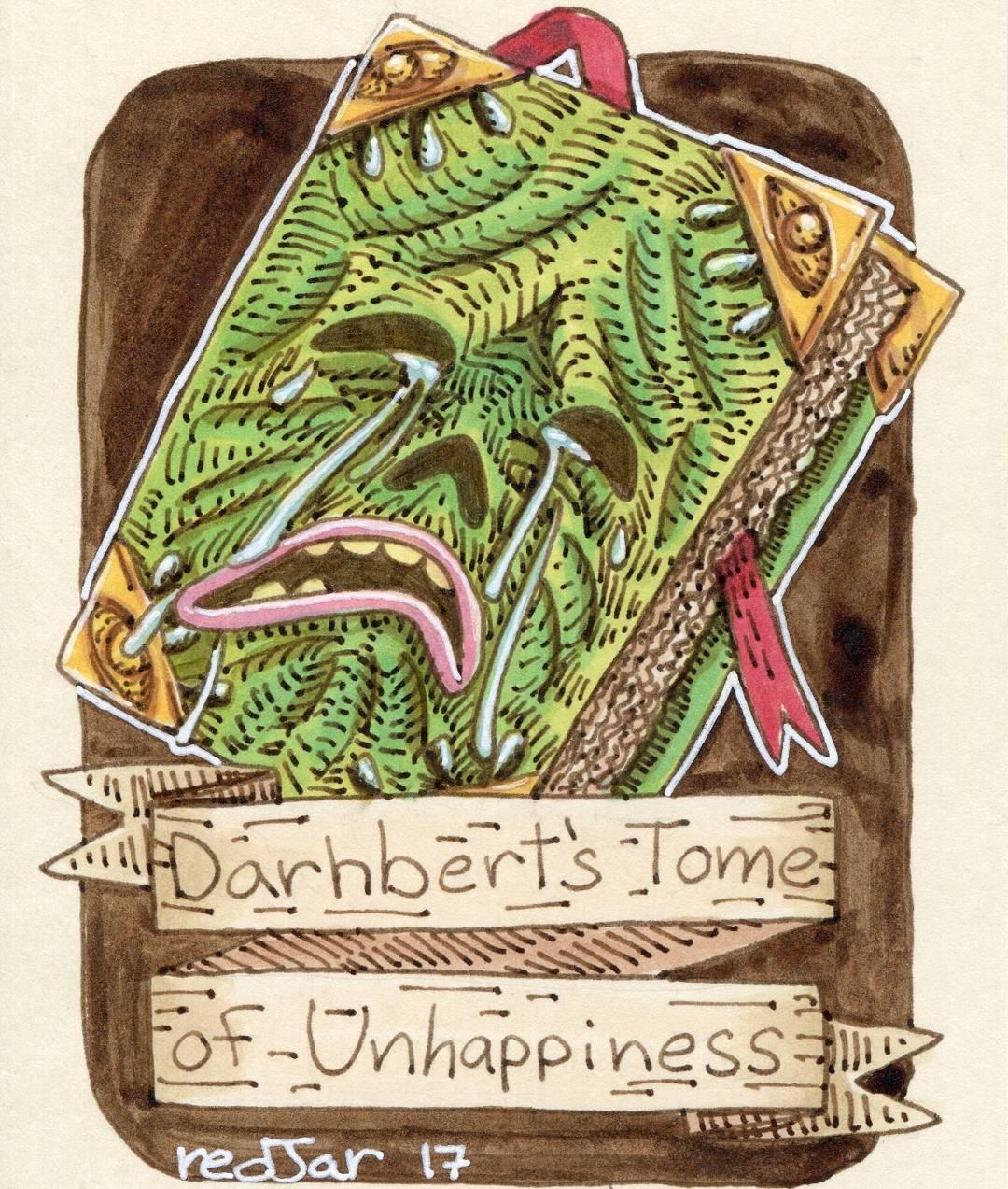 """redjarojam """"Darhbert's Tome of Unhappiness"""" - by Jared DeCosta (redjarojam) www.instagram.com/redjarojam (2017-04) © dell'autore tutti i diritti riservati"""