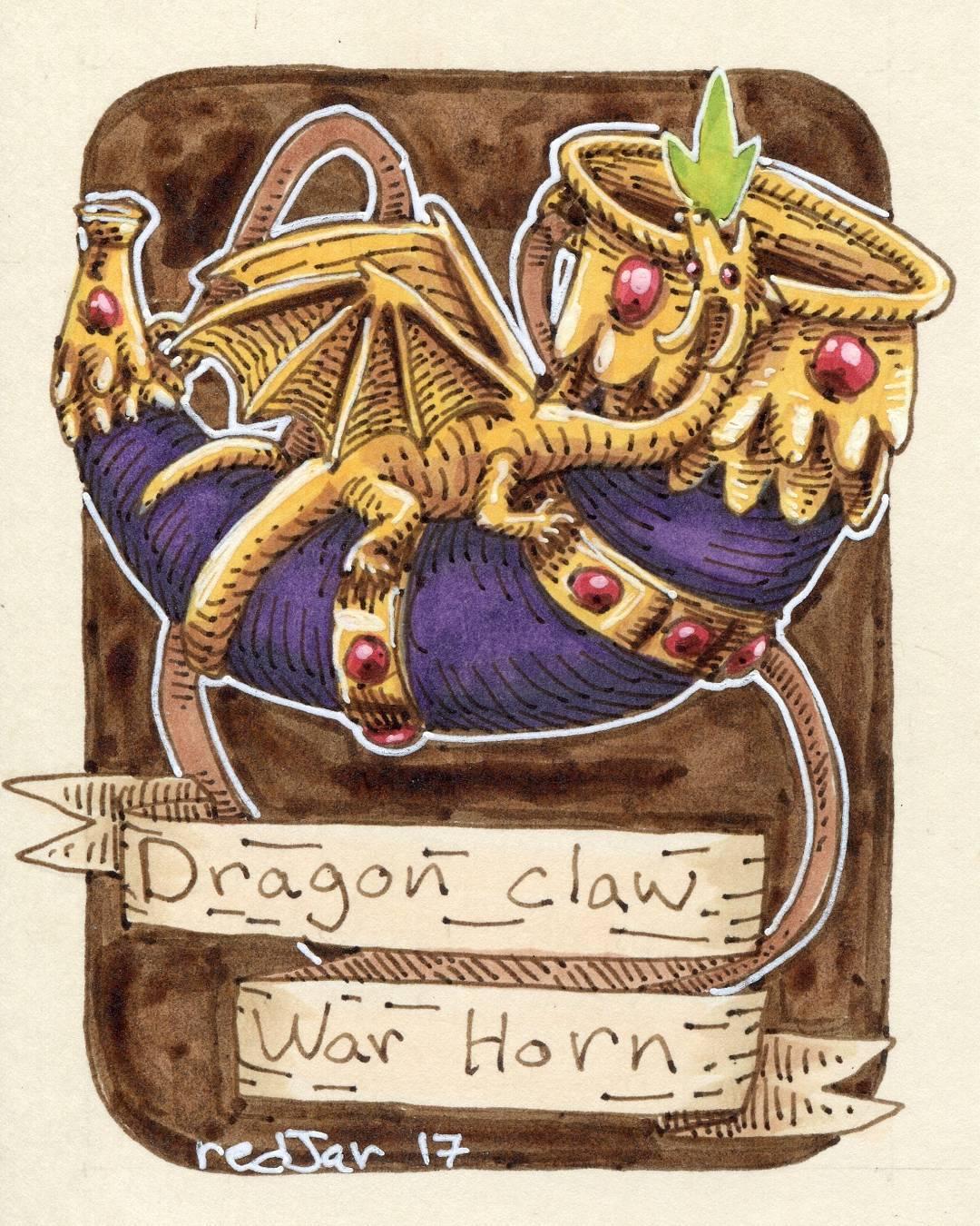 """redjarojam """"Dragon claw War Horn"""" - by Jared DeCosta (redjarojam) www.instagram.com/redjarojam (2017-04) © dell'autore tutti i diritti riservati"""