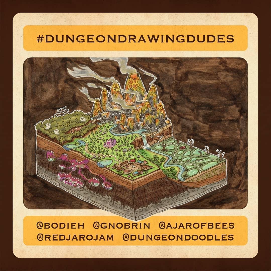 """redjarojam """"Dungeondrawingdudes"""" - by Jared DeCosta (redjarojam) www.instagram.com/redjarojam (2019-01) © dell'autore tutti i diritti riservati"""