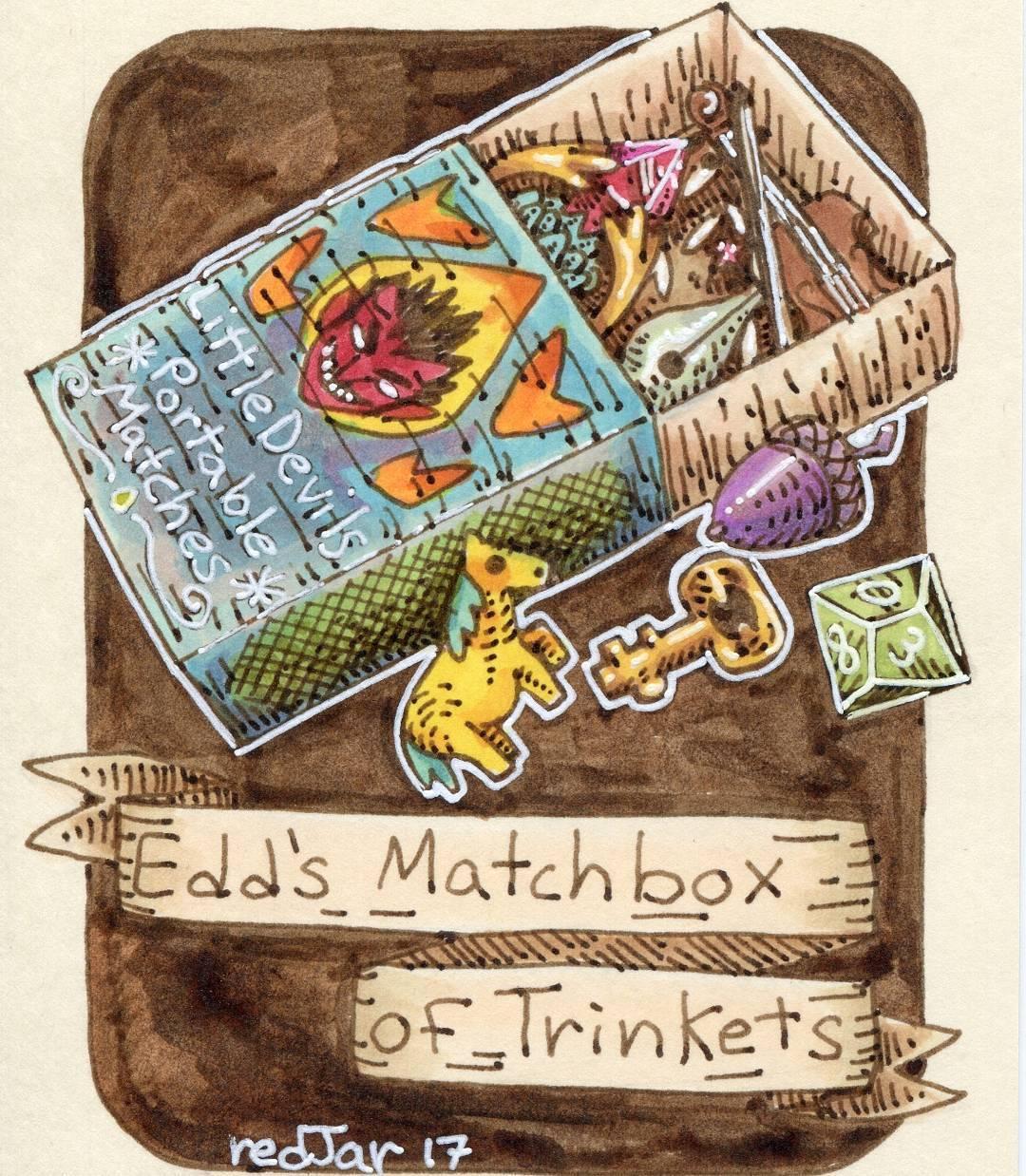"""redjarojam """"Edd's Matchbox of Trinkets"""" - by Jared DeCosta (redjarojam) www.instagram.com/redjarojam (2017-04) © dell'autore tutti i diritti riservati"""