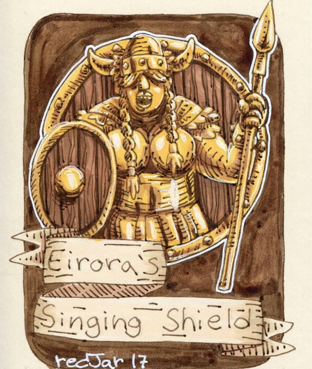 "redjarojam ""Eirora's Singing Shield"" - by Jared DeCosta (redjarojam) www.instagram.com/redjarojam (2017-04) © dell'autore tutti i diritti riservati"