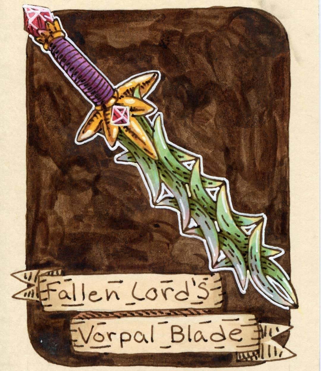 """redjarojam """"Fallen Lord's Vorpal Blade"""" - by Jared DeCosta (redjarojam) www.instagram.com/redjarojam (2018-03) © dell'autore tutti i diritti riservati"""