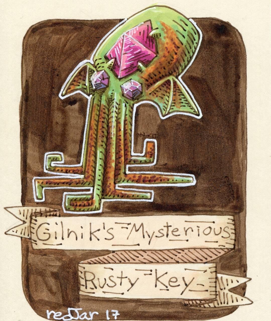 """redjarojam """"Gilnik's Mysterious Rusty Key"""" - by Jared DeCosta (redjarojam) www.instagram.com/redjarojam (2017-04) © dell'autore tutti i diritti riservati"""