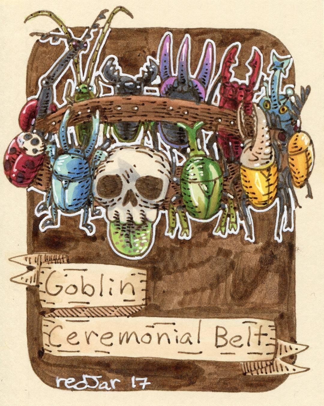 "redjarojam ""Goblin Ceremonial Belt"" - by Jared DeCosta (redjarojam) www.instagram.com/redjarojam (2017-03) © dell'autore tutti i diritti riservati"