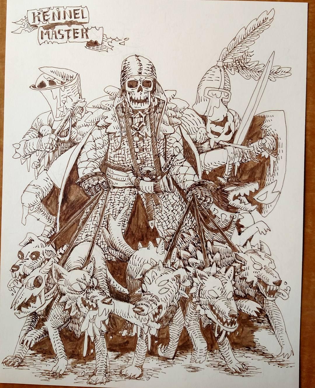 "redjarojam ""Kennelmaster, hounds of hell and puke knights"" - by Jared DeCosta (redjarojam) www.instagram.com/redjarojam (2016-2019) © dell'autore tutti i diritti riservati"