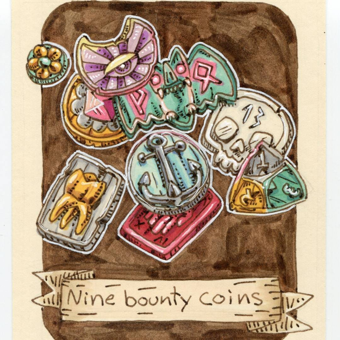 "redjarojam ""Nine Bounty Coins"", 12 Days of Critmas - by Jared DeCosta (redjarojam) www.instagram.com/redjarojam (2017-12) © dell'autore tutti i diritti riservati"
