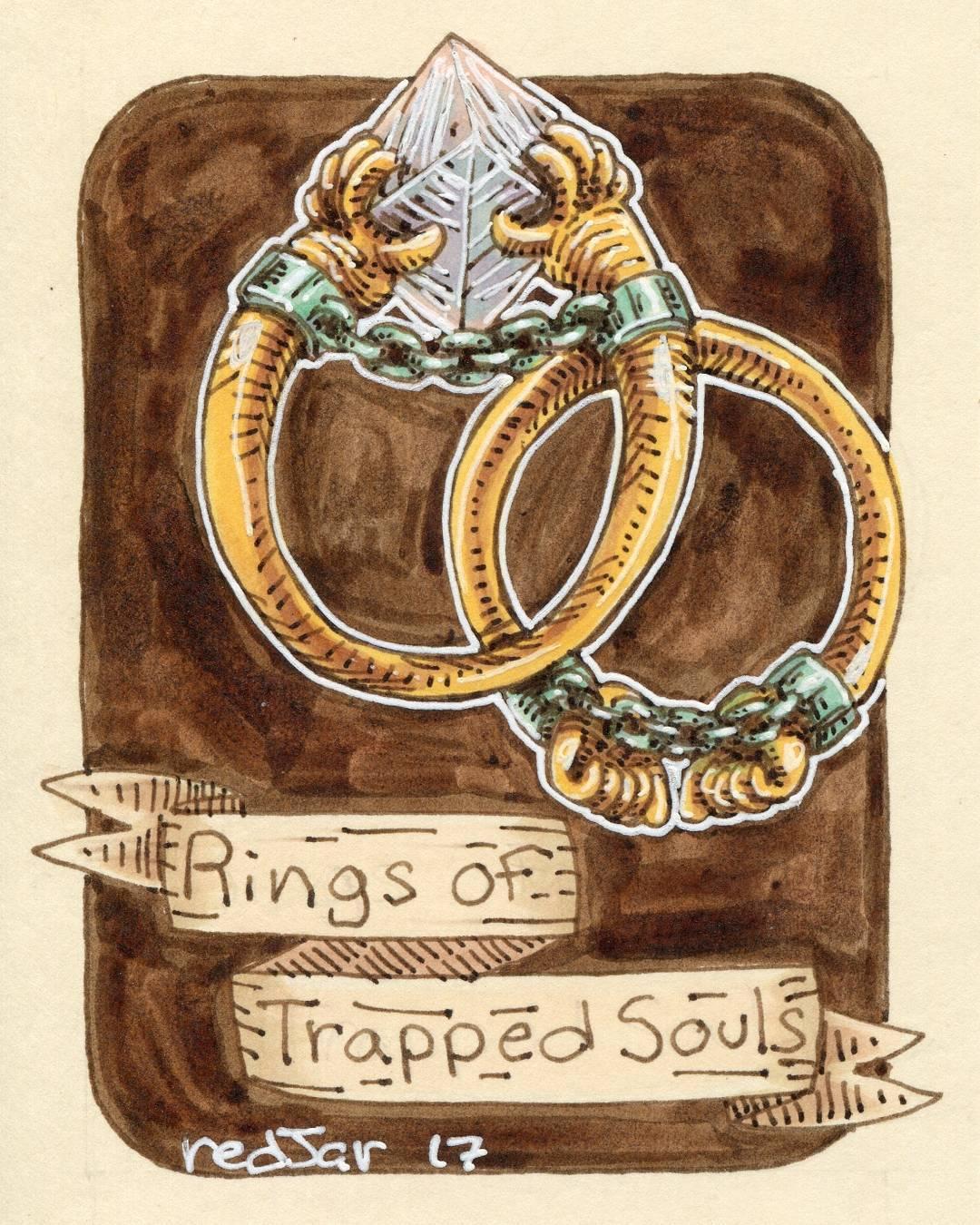 """redjarojam """"Rings of Trapped Souls"""" - by Jared DeCosta (redjarojam) www.instagram.com/redjarojam (2017-04) © dell'autore tutti i diritti riservati"""
